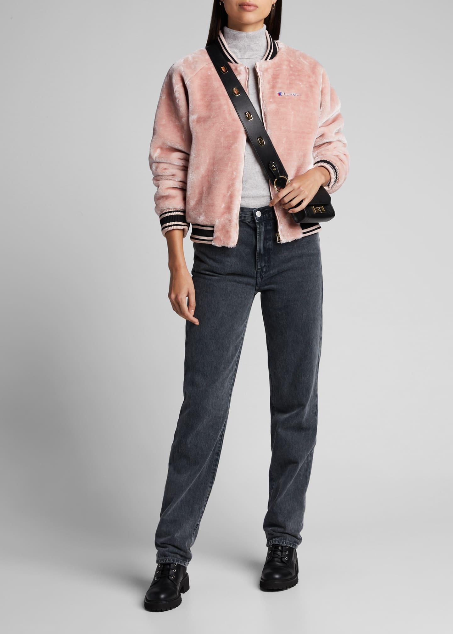 Champion Europe Reverse Weave Zip-Front Faux-Fur Bomber Jacket