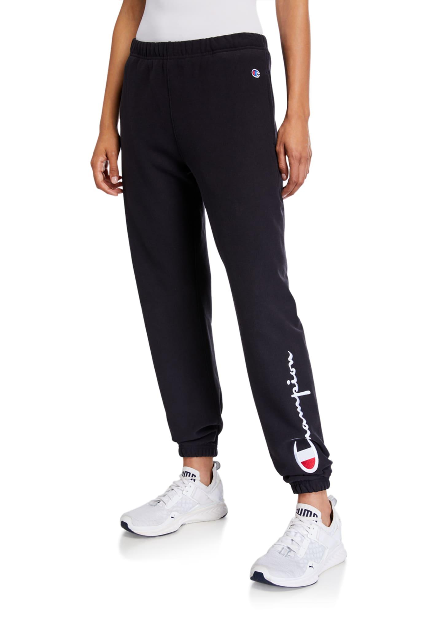 Champion Europe Reverse Weave Logo Sweatpants with Elastic