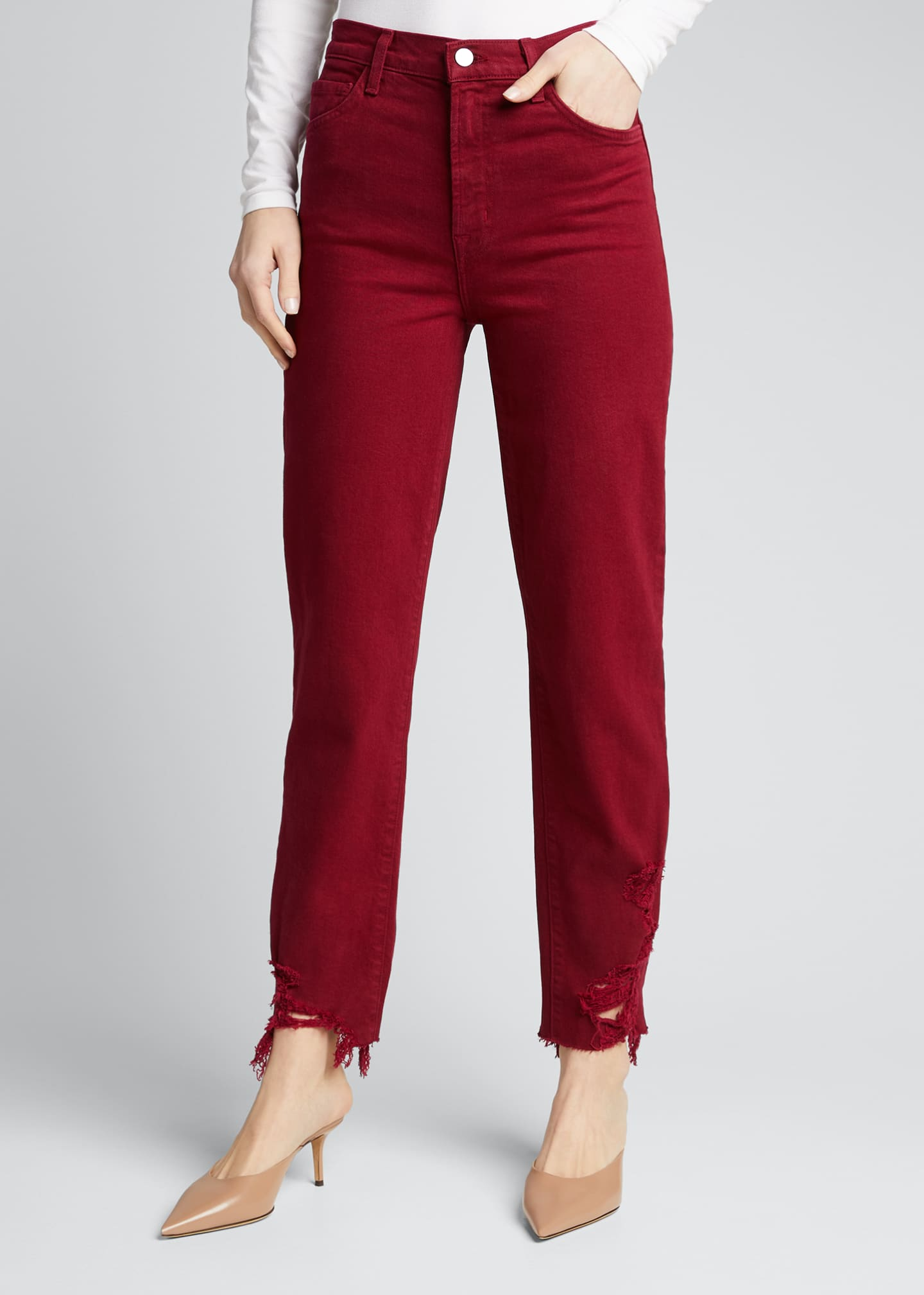 Image 3 of 5: Jules High-Rise Straight Jeans