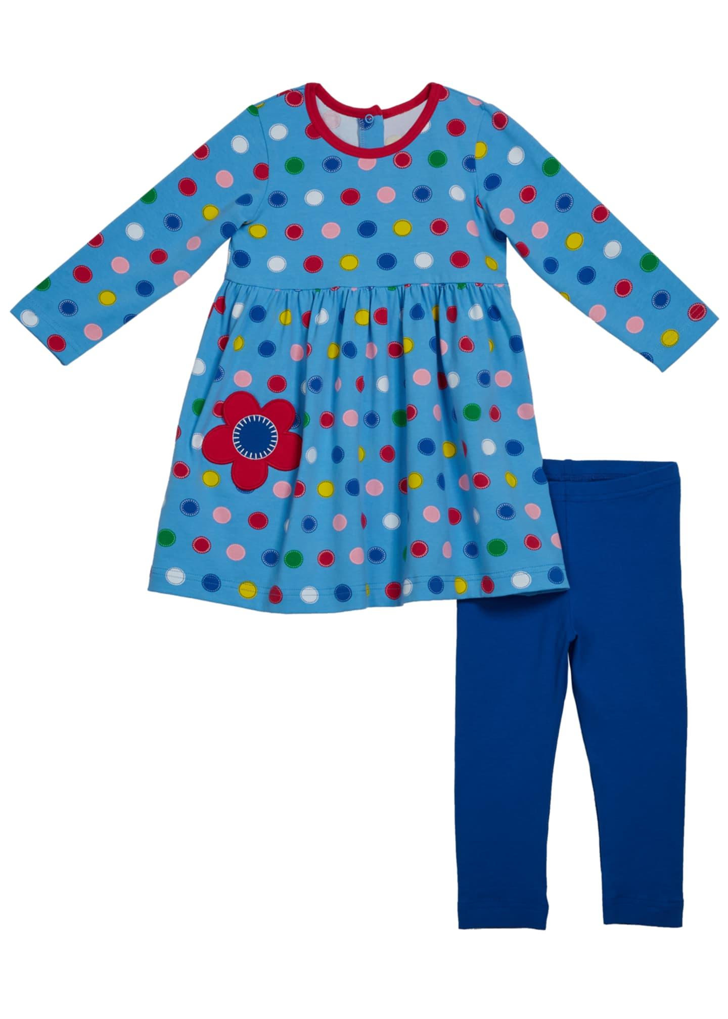 Florence Eiseman Girl's Multicolored Dot Print Dress w/