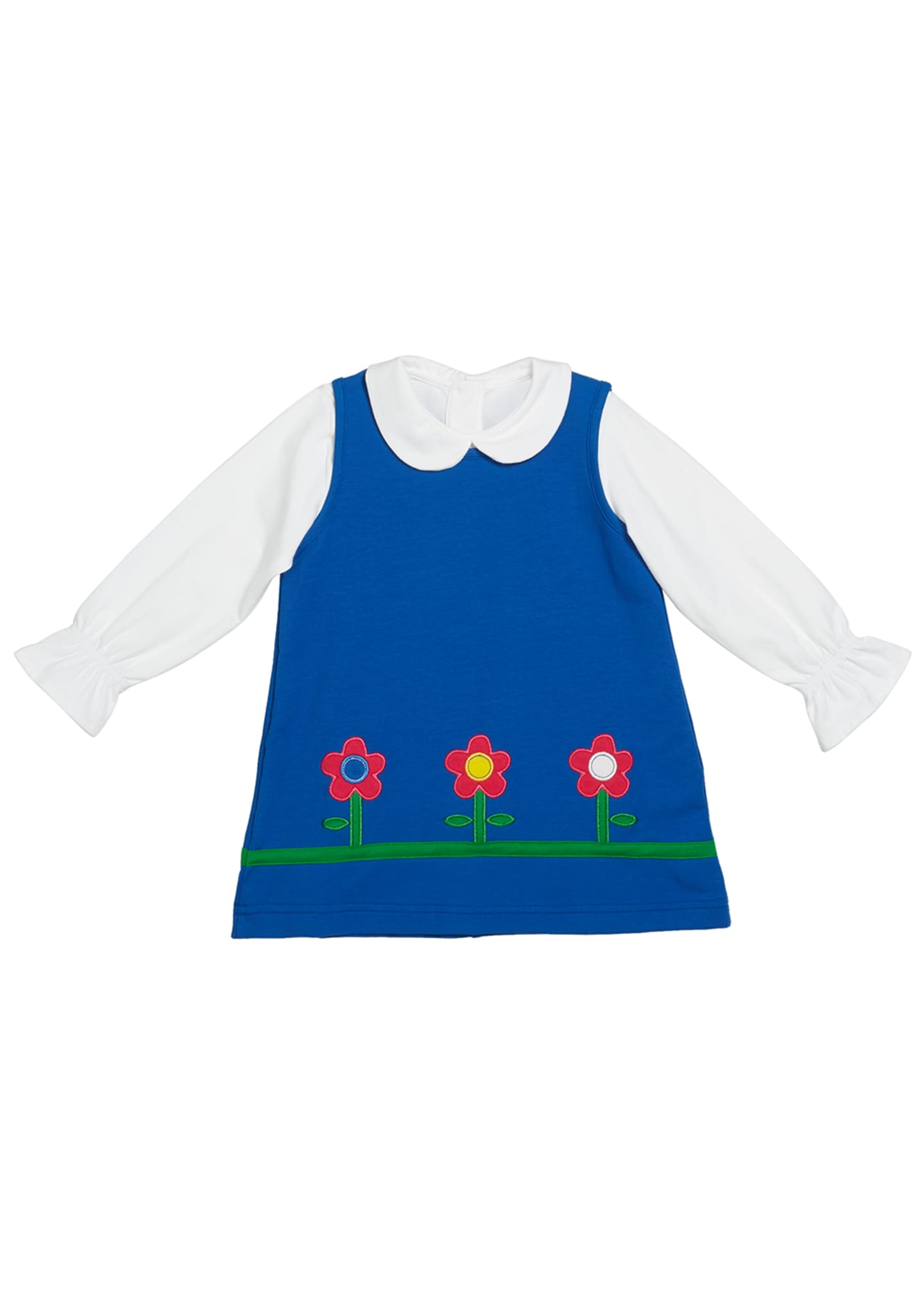 Florence Eiseman Girl's French Terry Flower Jumper w/