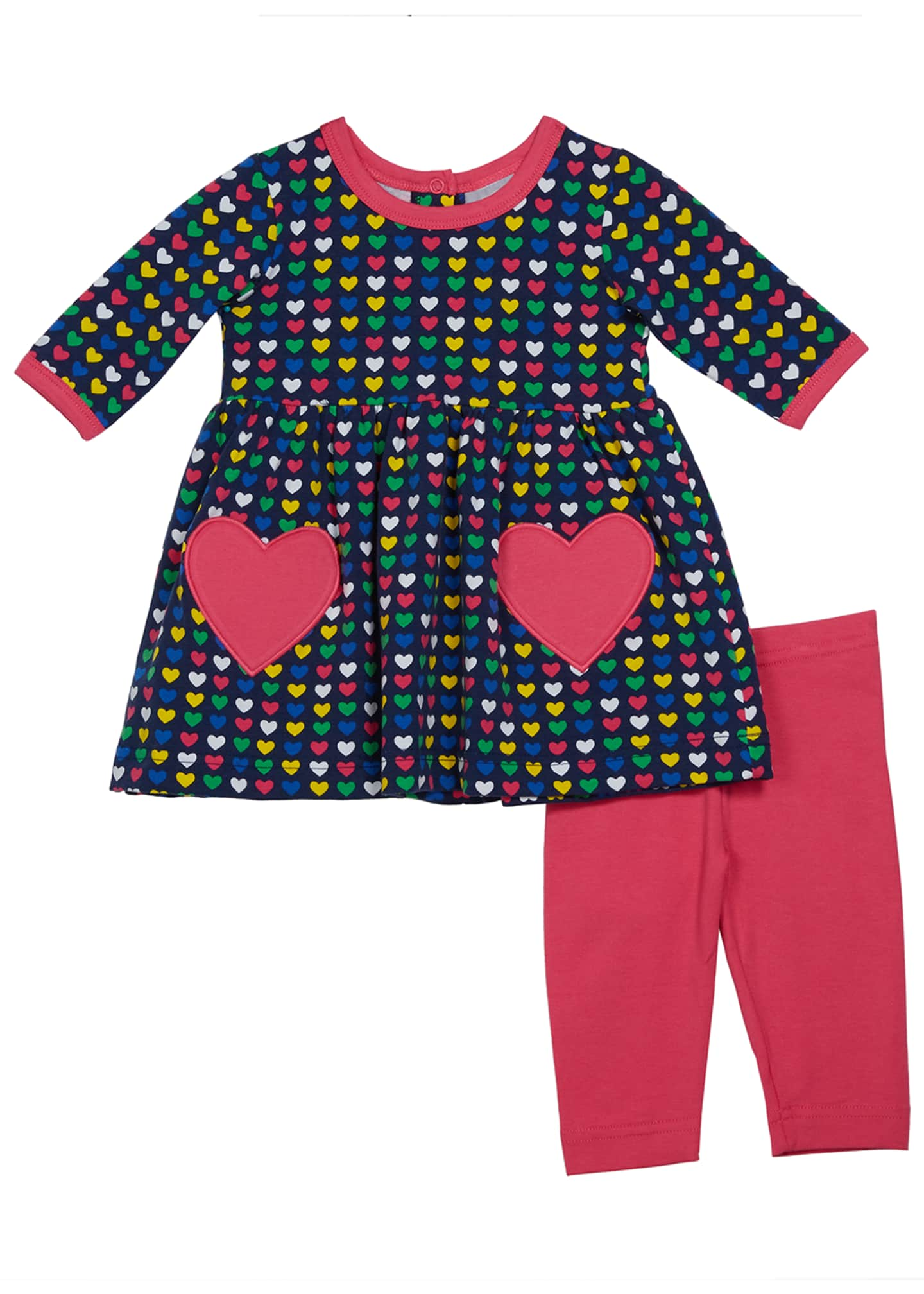 Florence Eiseman Girl's Multicolored Heart Print Dress w/