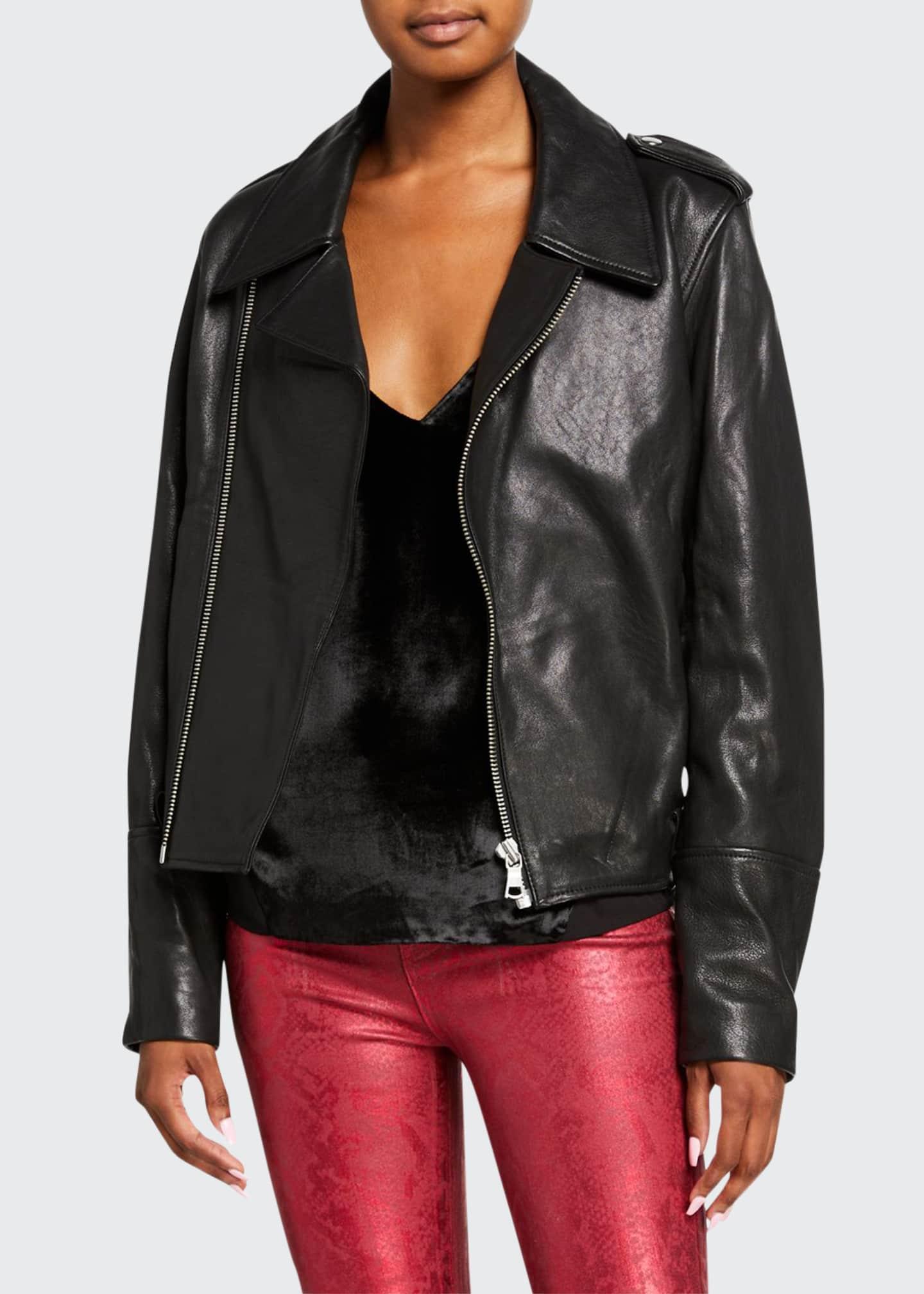 J Brand Maysen Leather Moto Jacket
