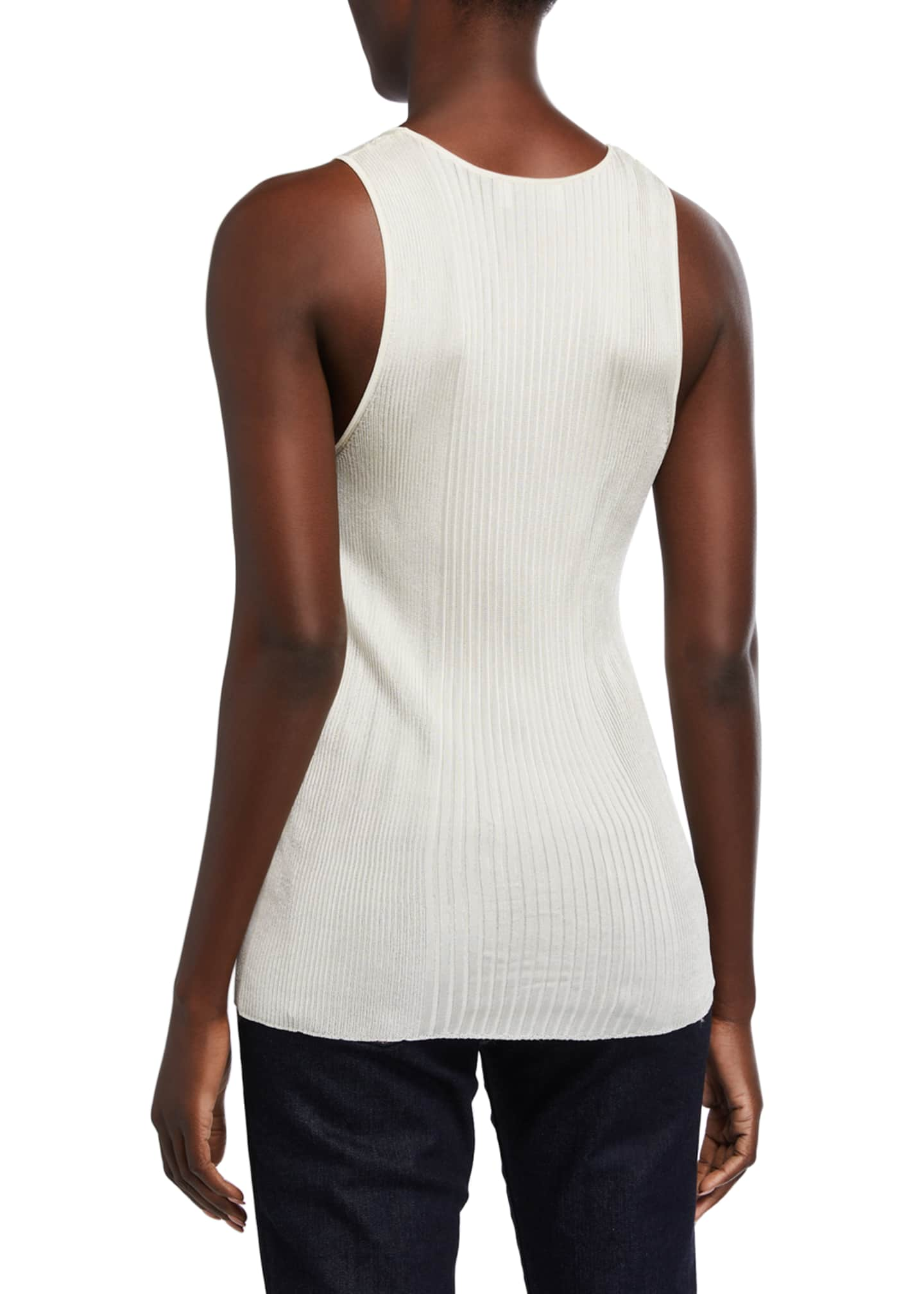 Image 2 of 2: Ribbed Sleeveless Top