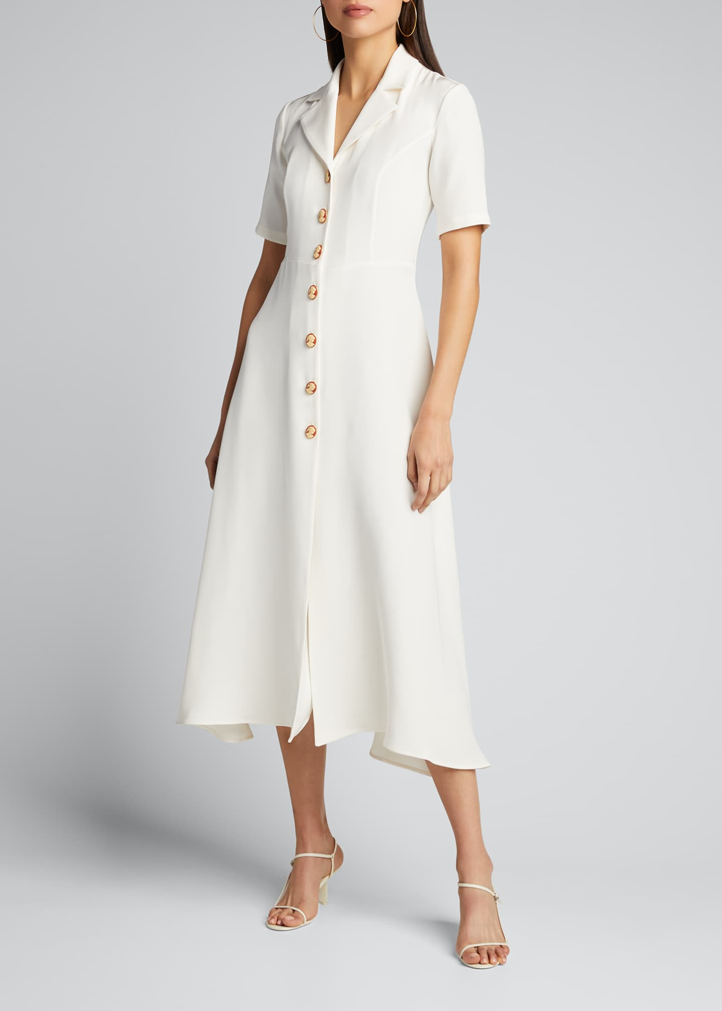 Image 3 of 5: Cameo Button-Front Shirtdress