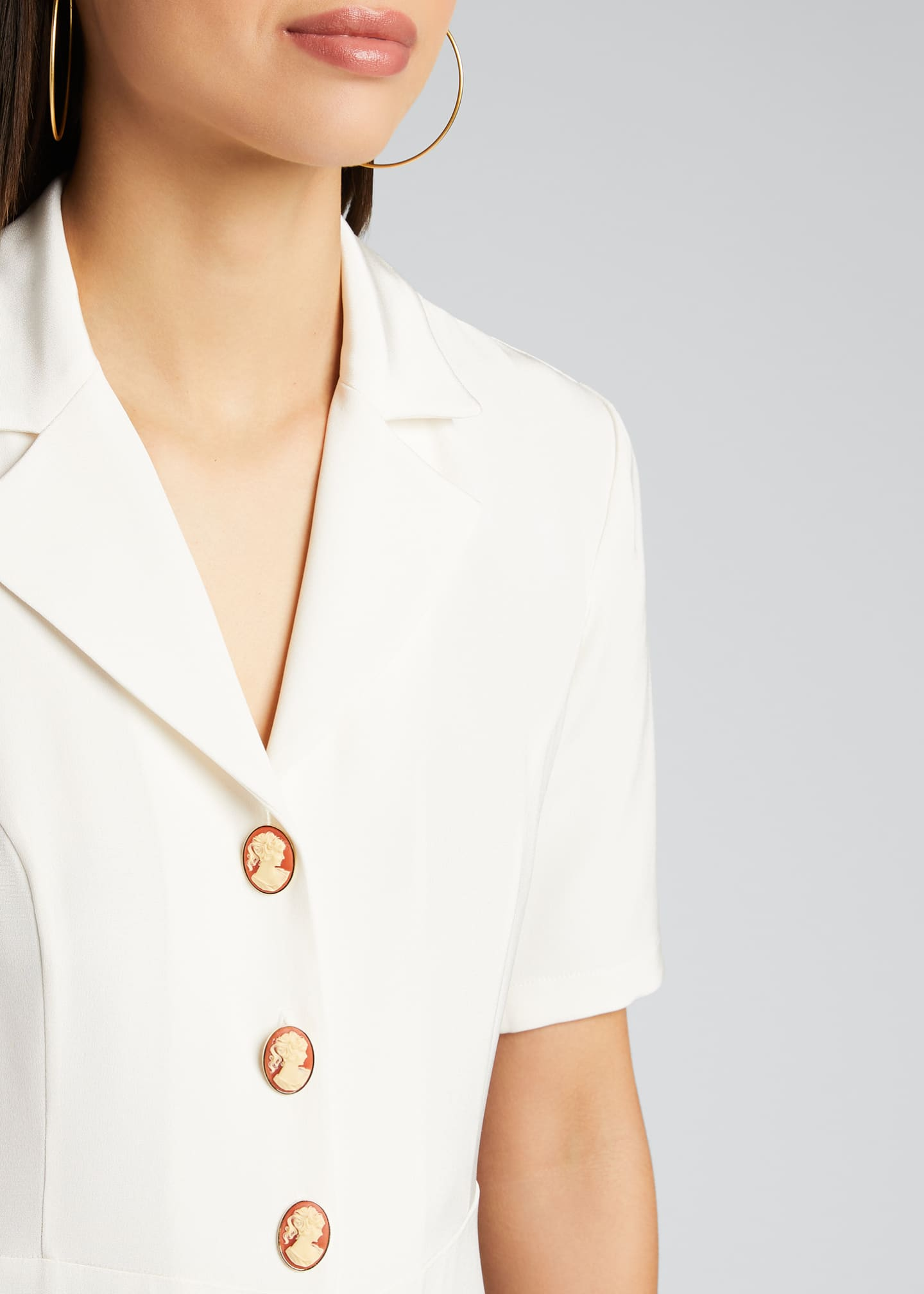 Image 4 of 5: Cameo Button-Front Shirtdress