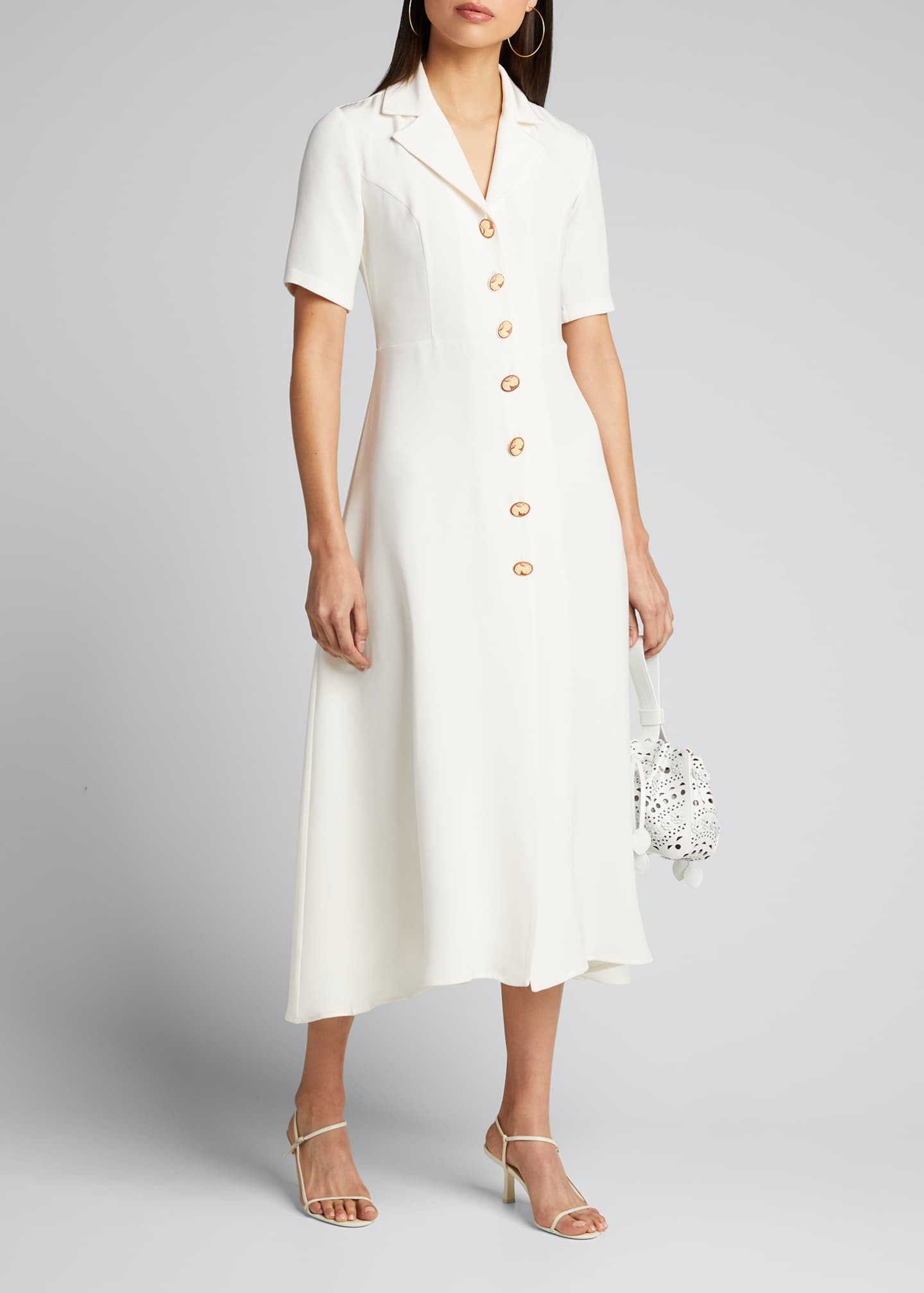 Image 1 of 5: Cameo Button-Front Shirtdress