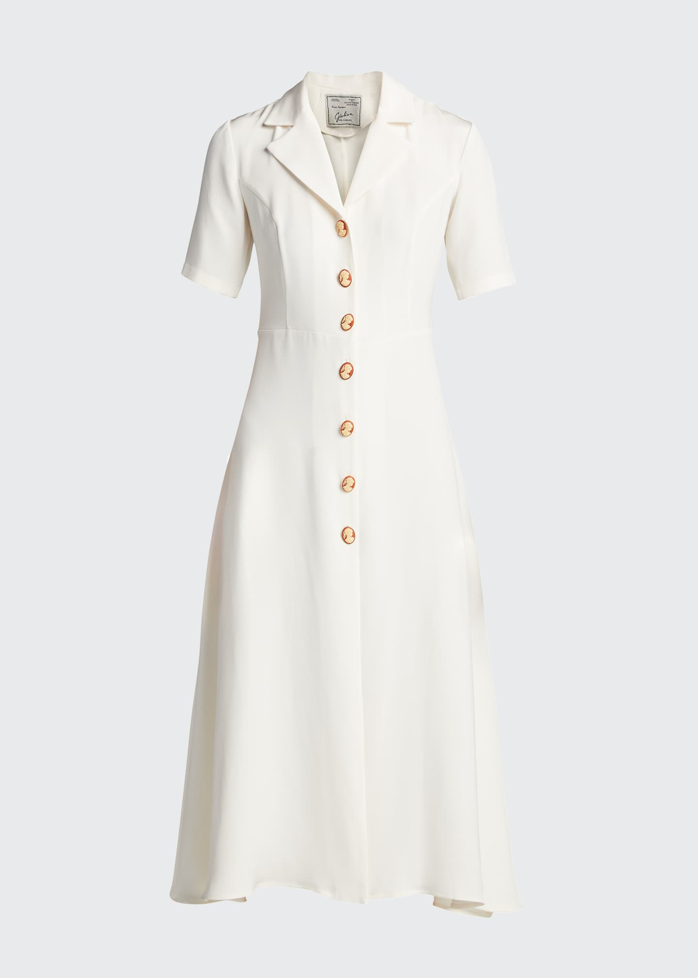 Image 5 of 5: Cameo Button-Front Shirtdress