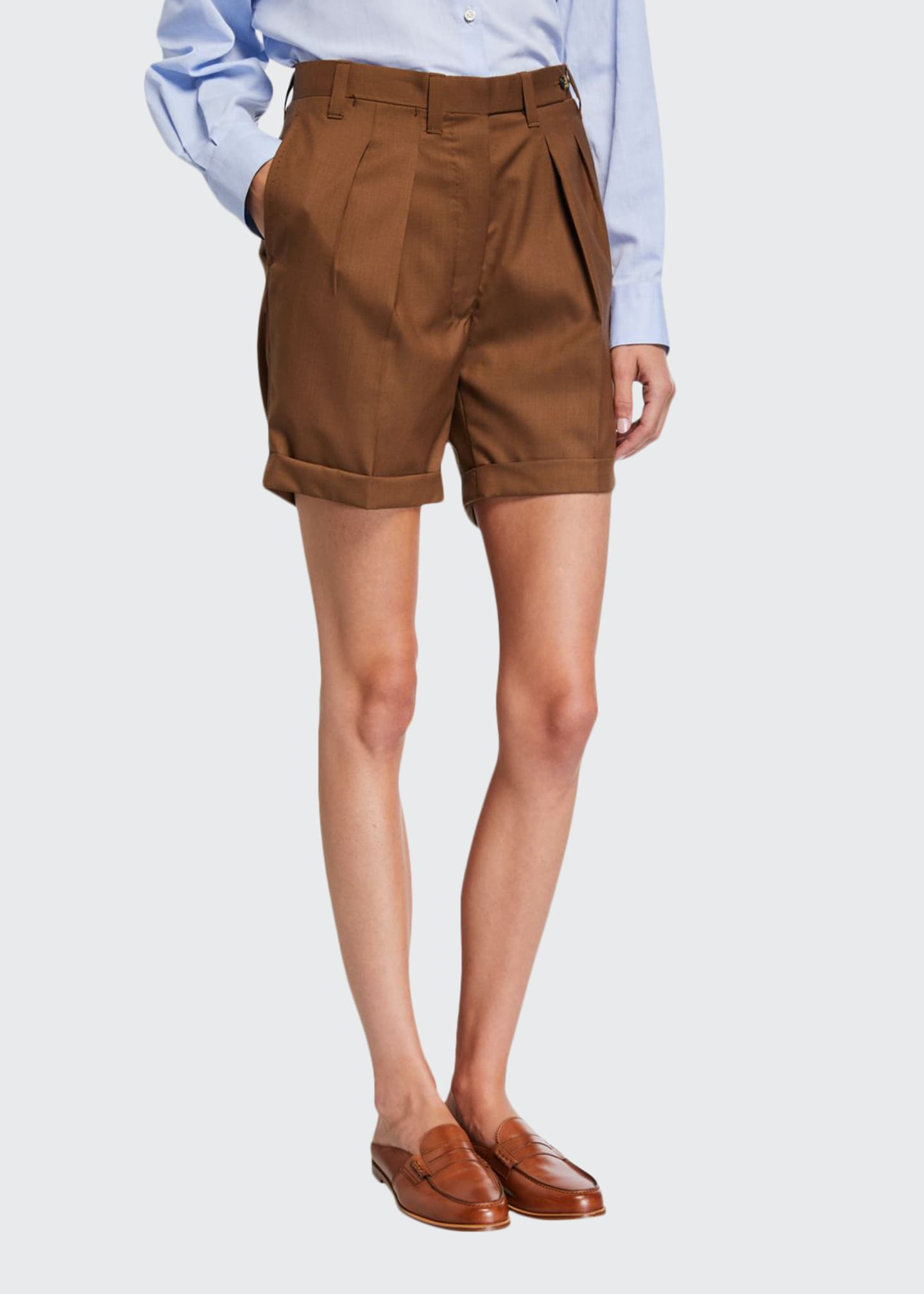 Giuliva Heritage Collection Double-Pinces Tailored Shorts