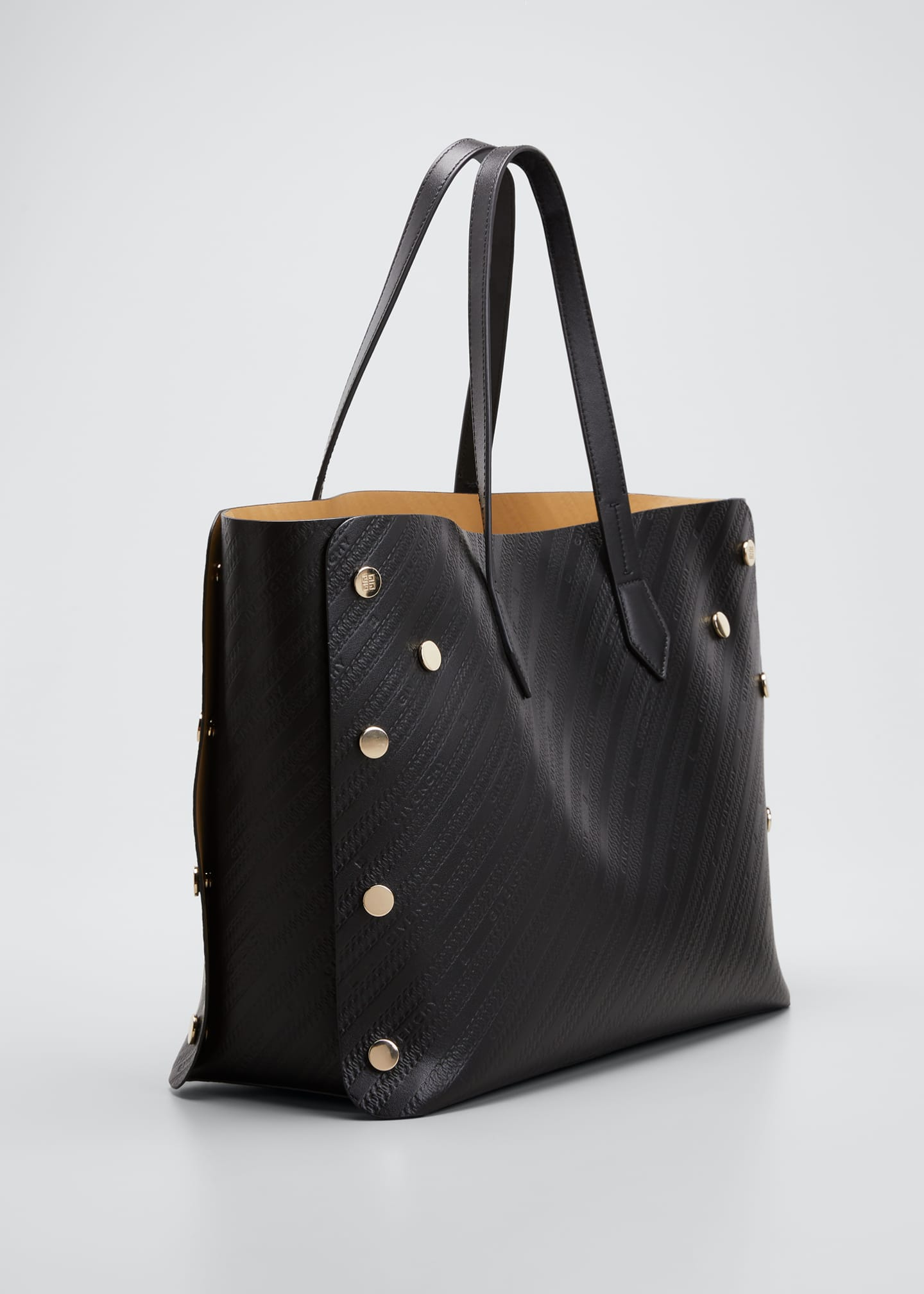 Image 3 of 5: Medium Bond Logo-Embossed Leather Shopping Tote Bag