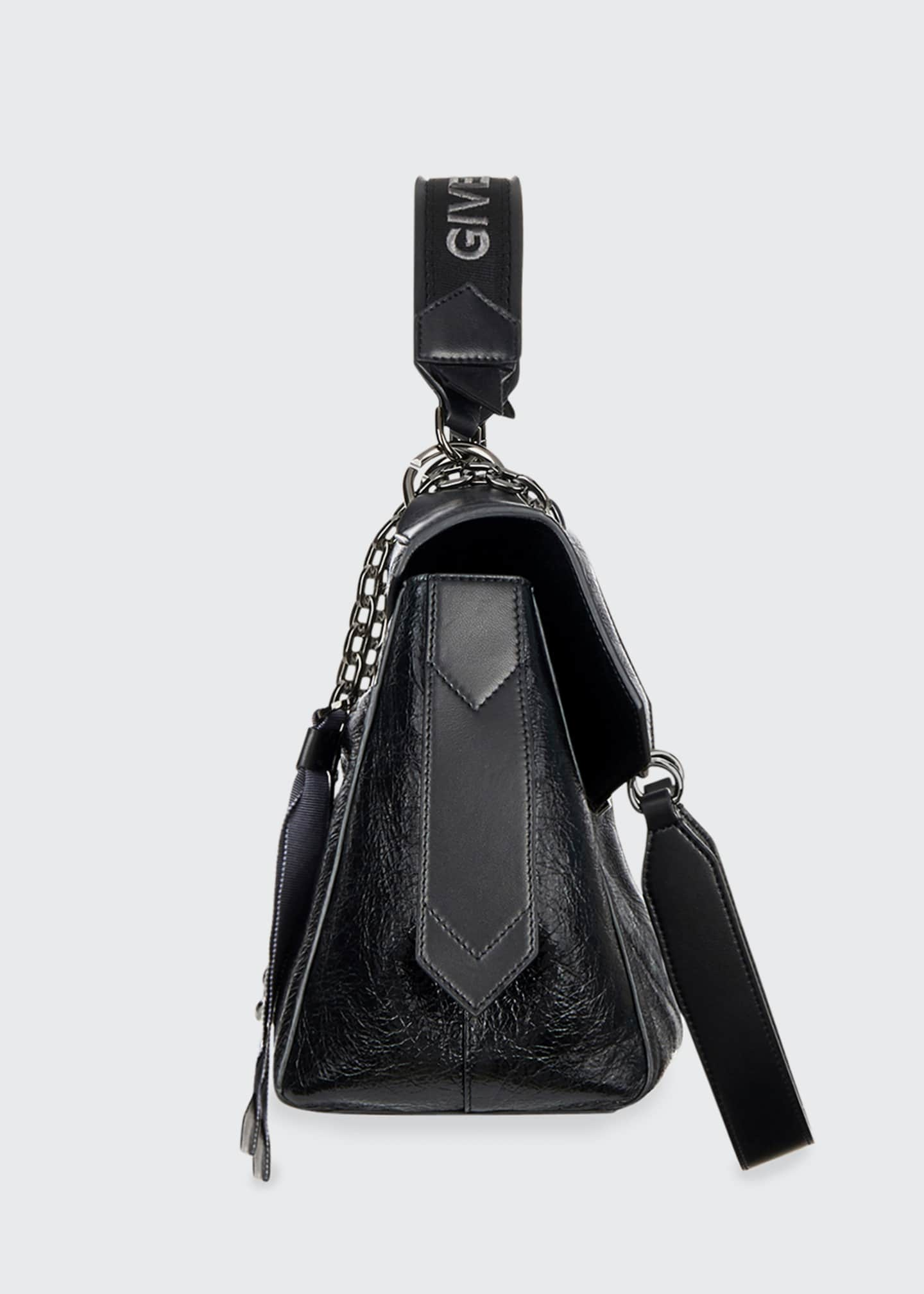 Image 4 of 4: ID Medium Shiny Shoulder Bag