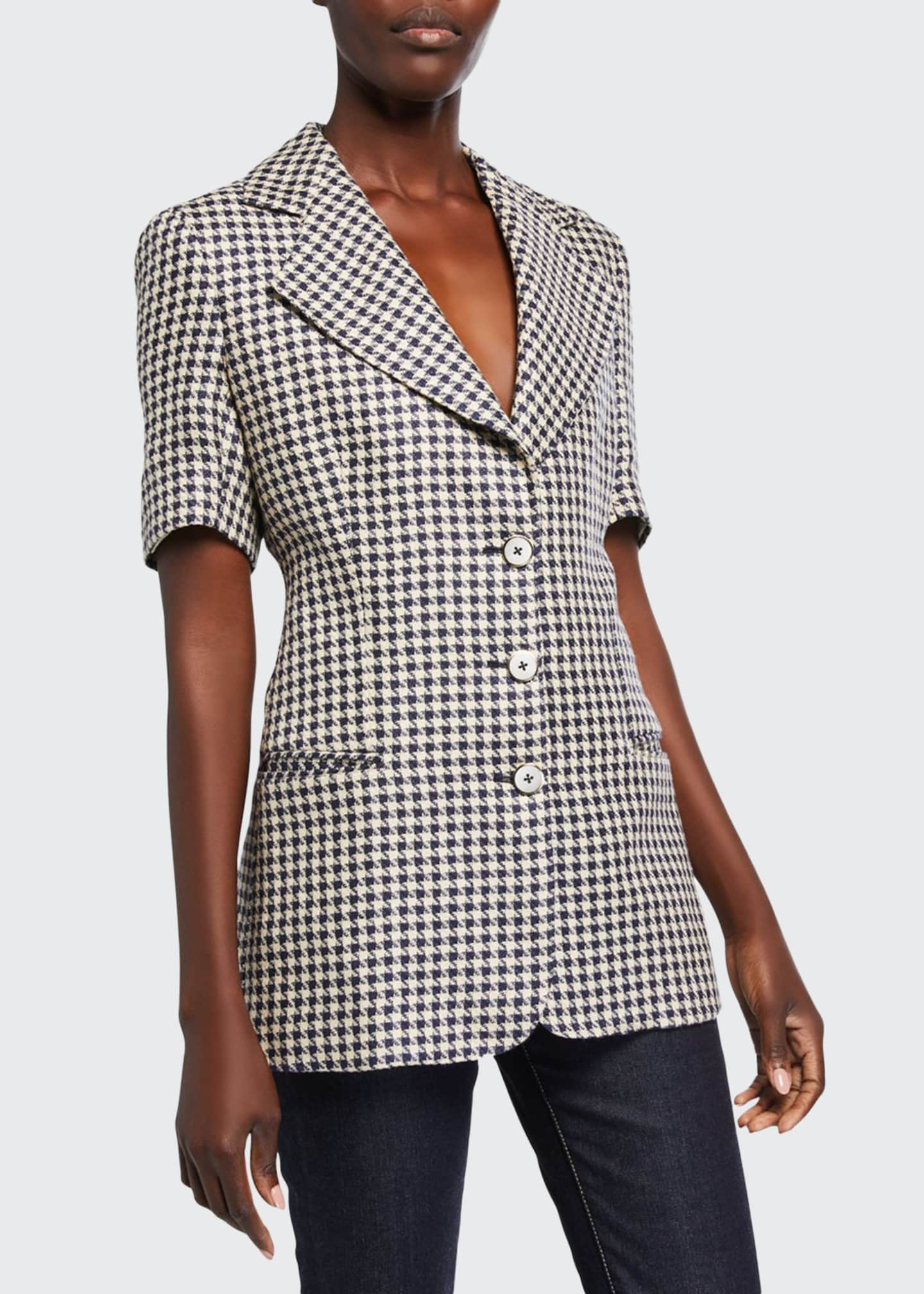 Giuliva Heritage Collection Fitted Short-Sleeve Blazer