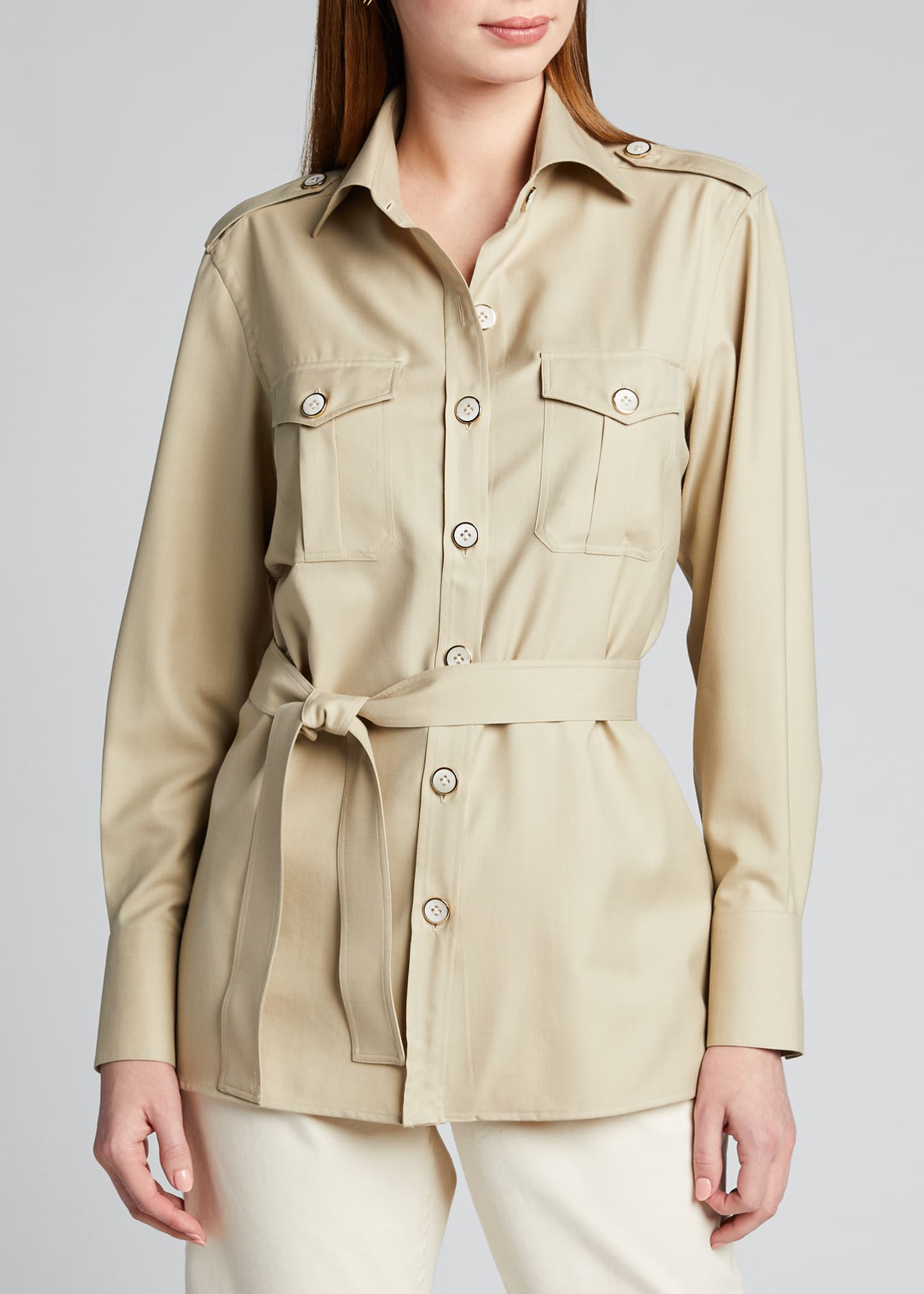 Image 3 of 5: Safari Belted Shirt