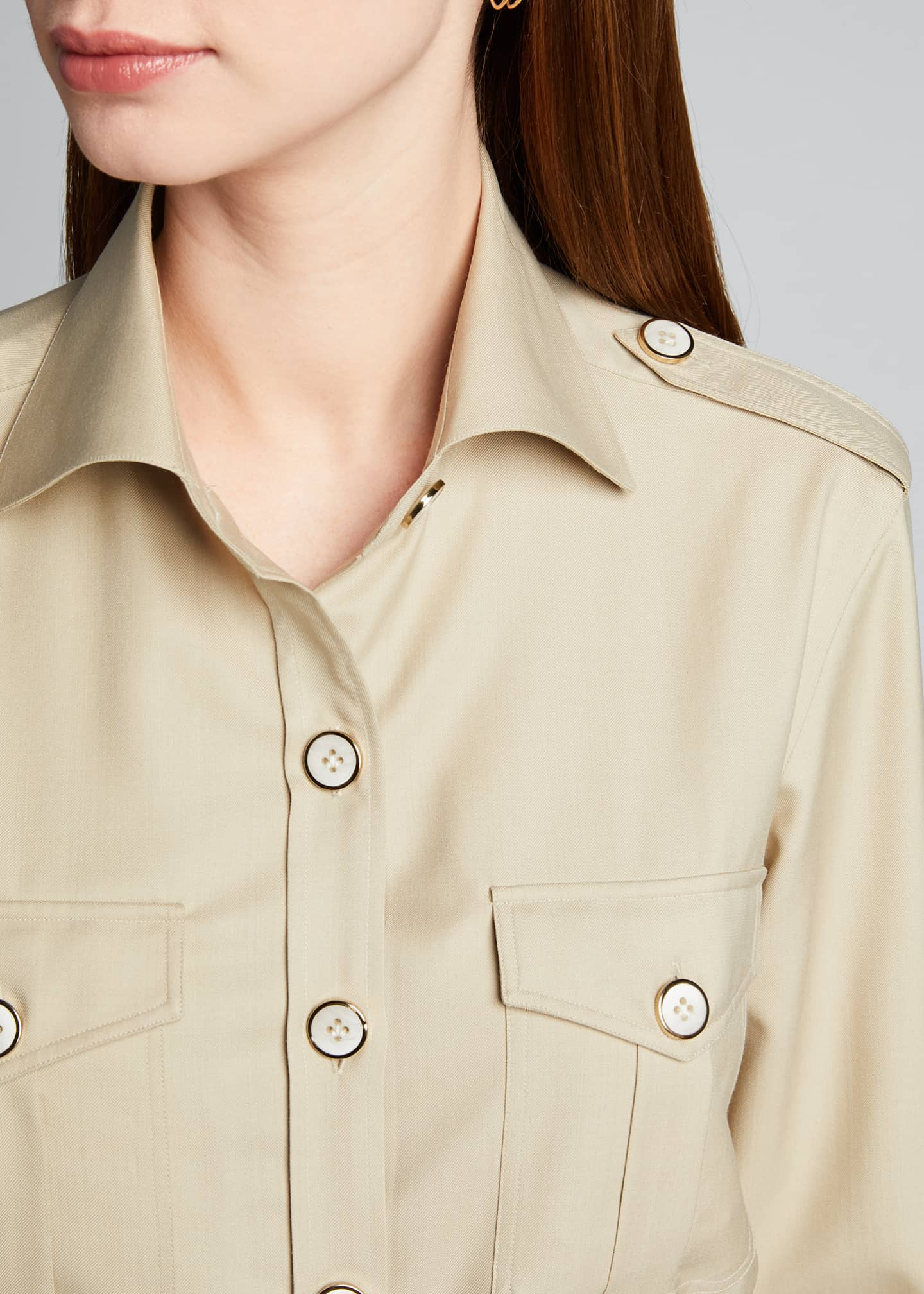 Image 4 of 5: Safari Belted Shirt