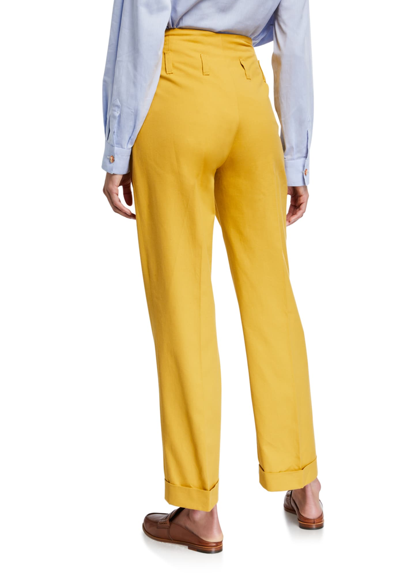 Image 2 of 3: Double-Pinces Tailored Pants