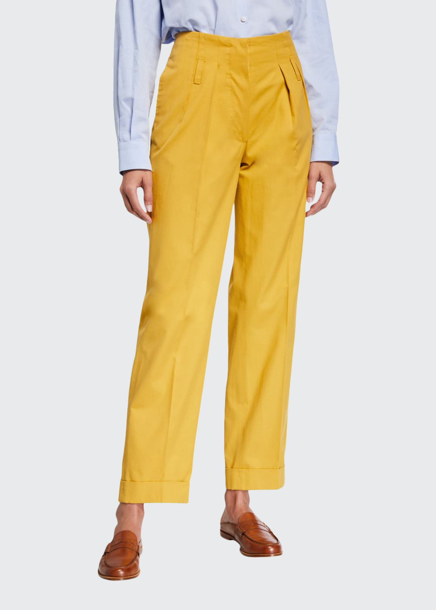 Giuliva Heritage Collection Double-Pinces Tailored Pants