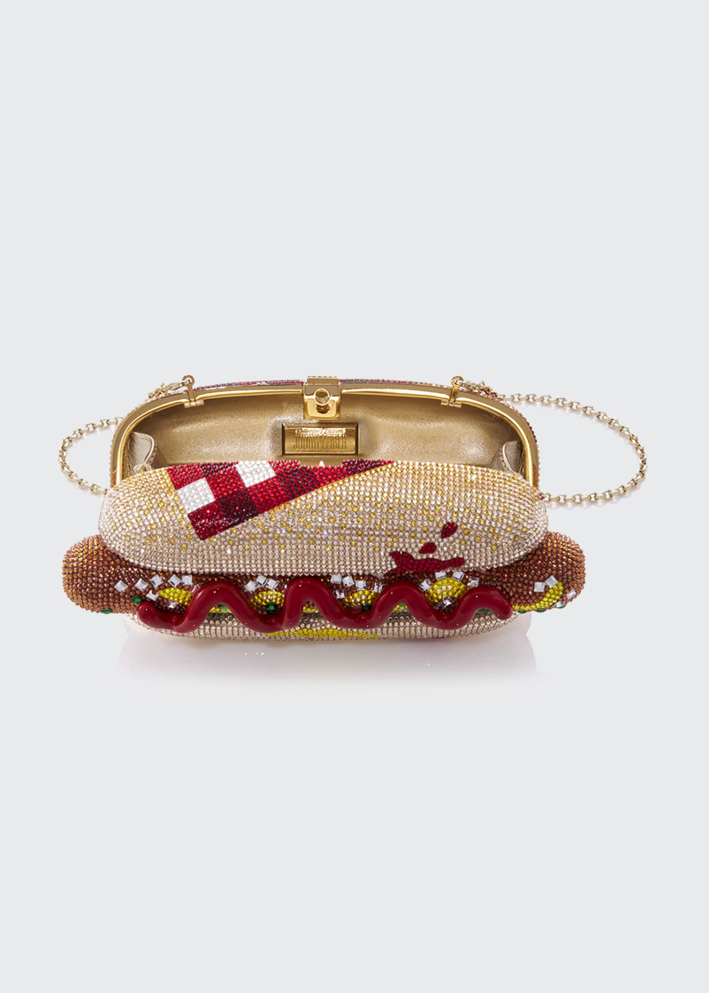 Image 2 of 4: Hot Dog Minaudiere Clutch Bag