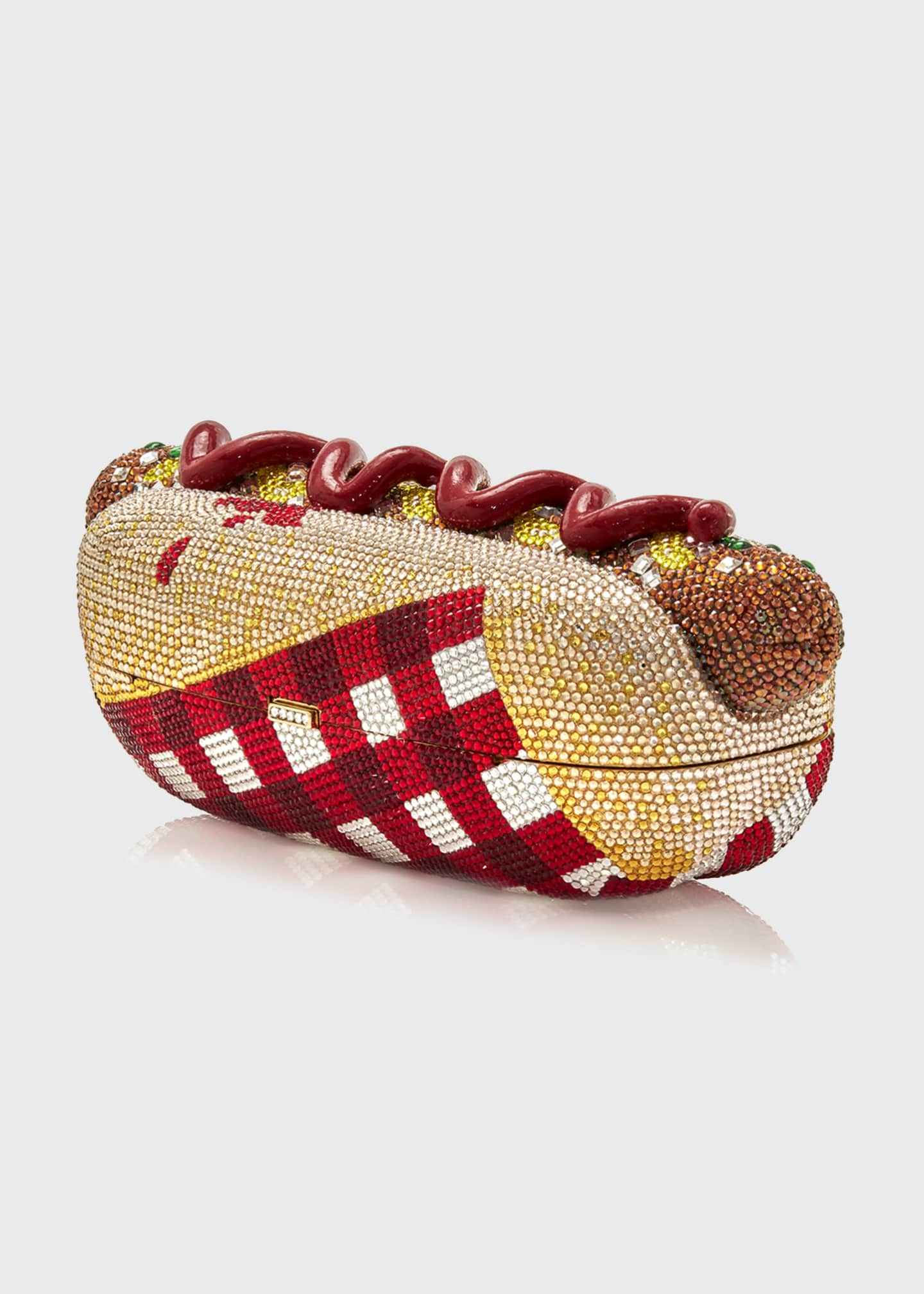 Image 3 of 4: Hot Dog Minaudiere Clutch Bag