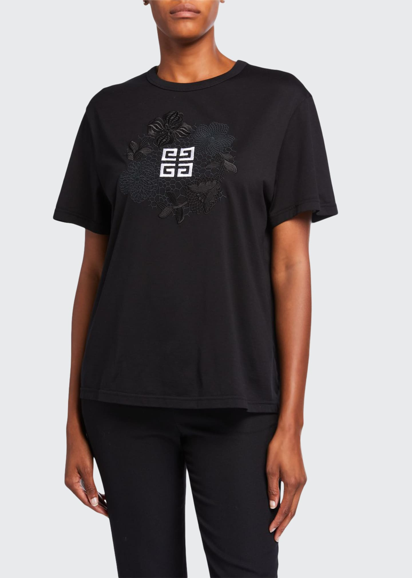 Givenchy Embroidered Logo Graphic Shirt
