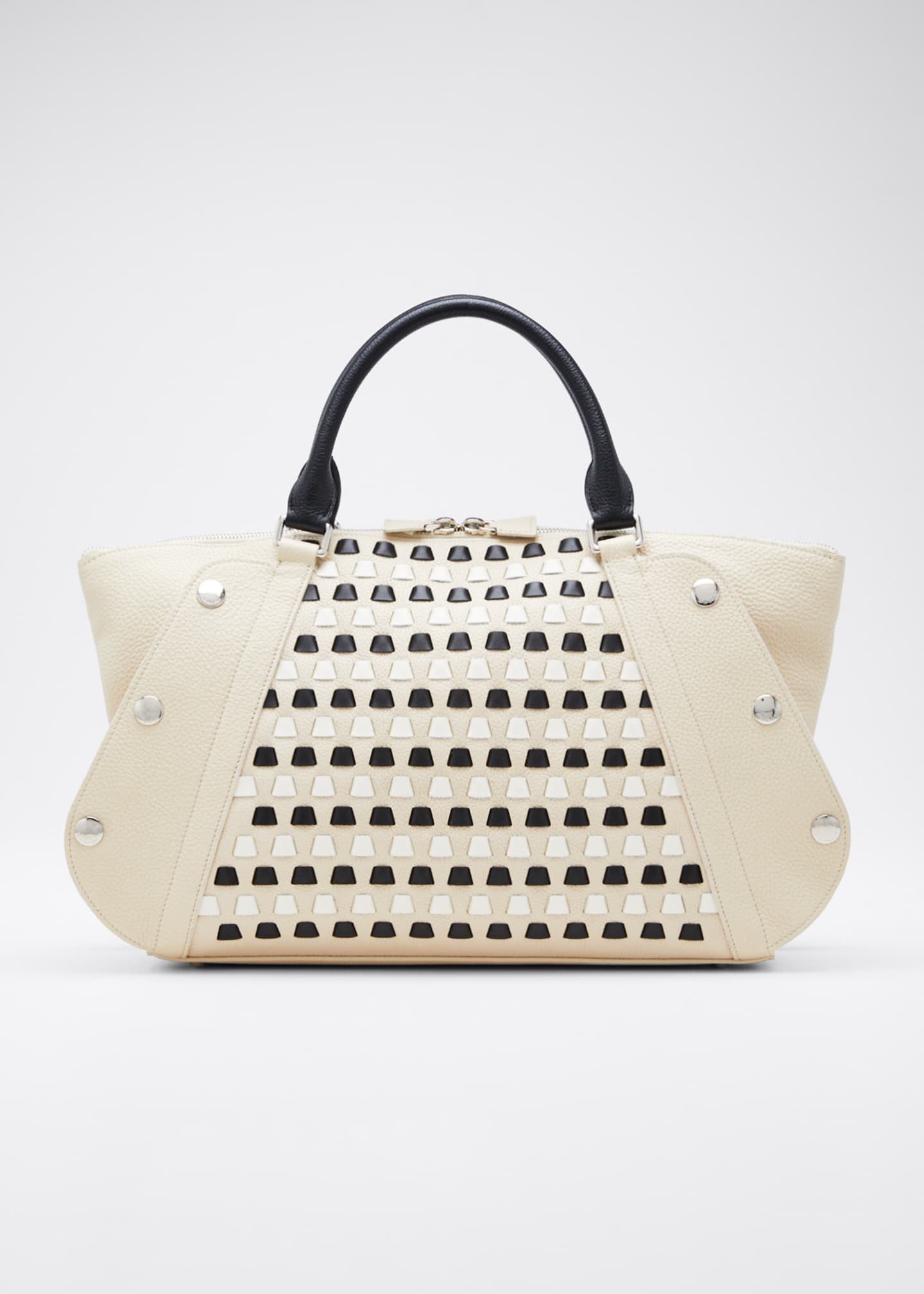Akris Aimee Small Cervo Woven Satchel Bag