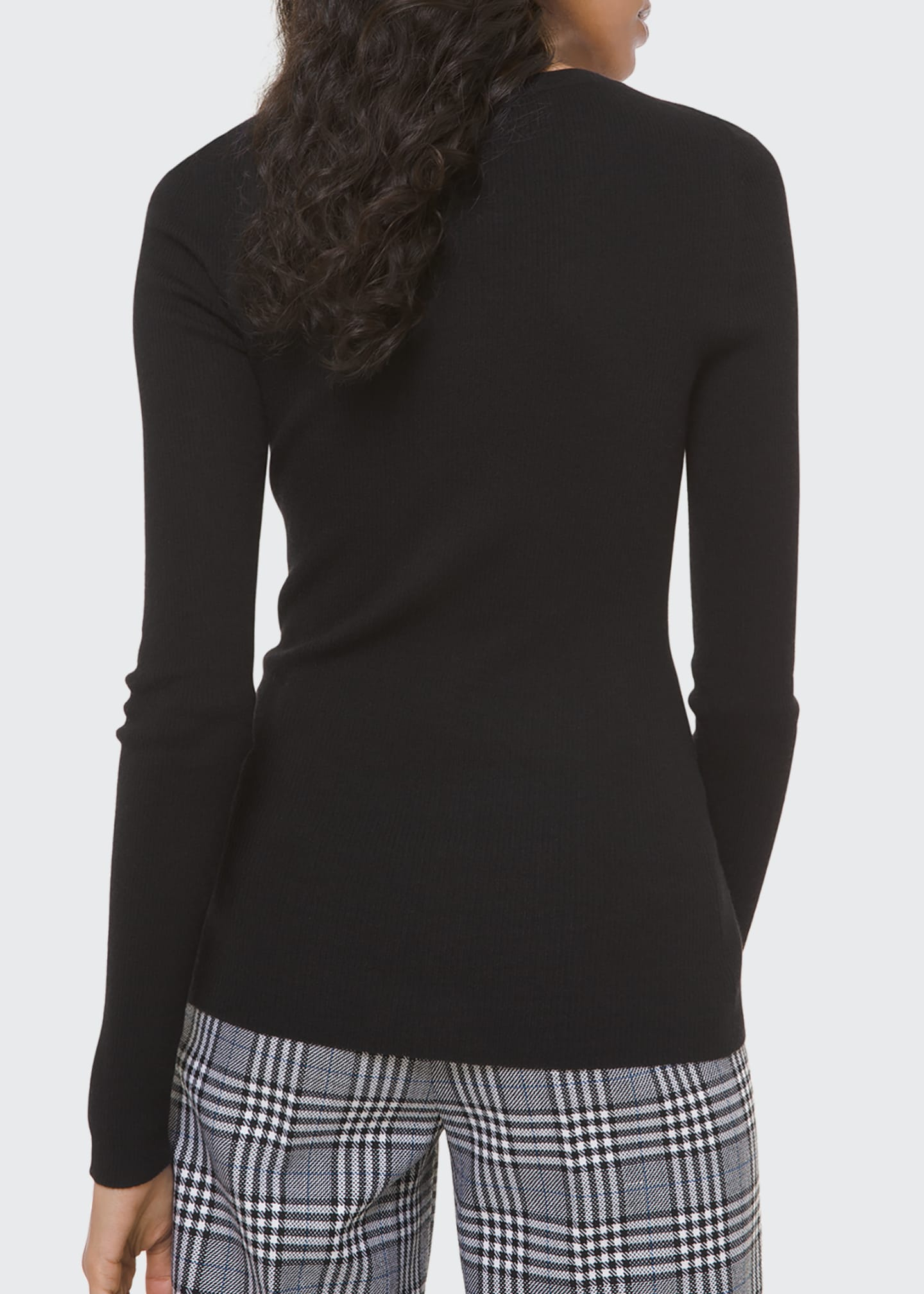 Image 2 of 2: Cashmere Ribbed-Knit Sweater