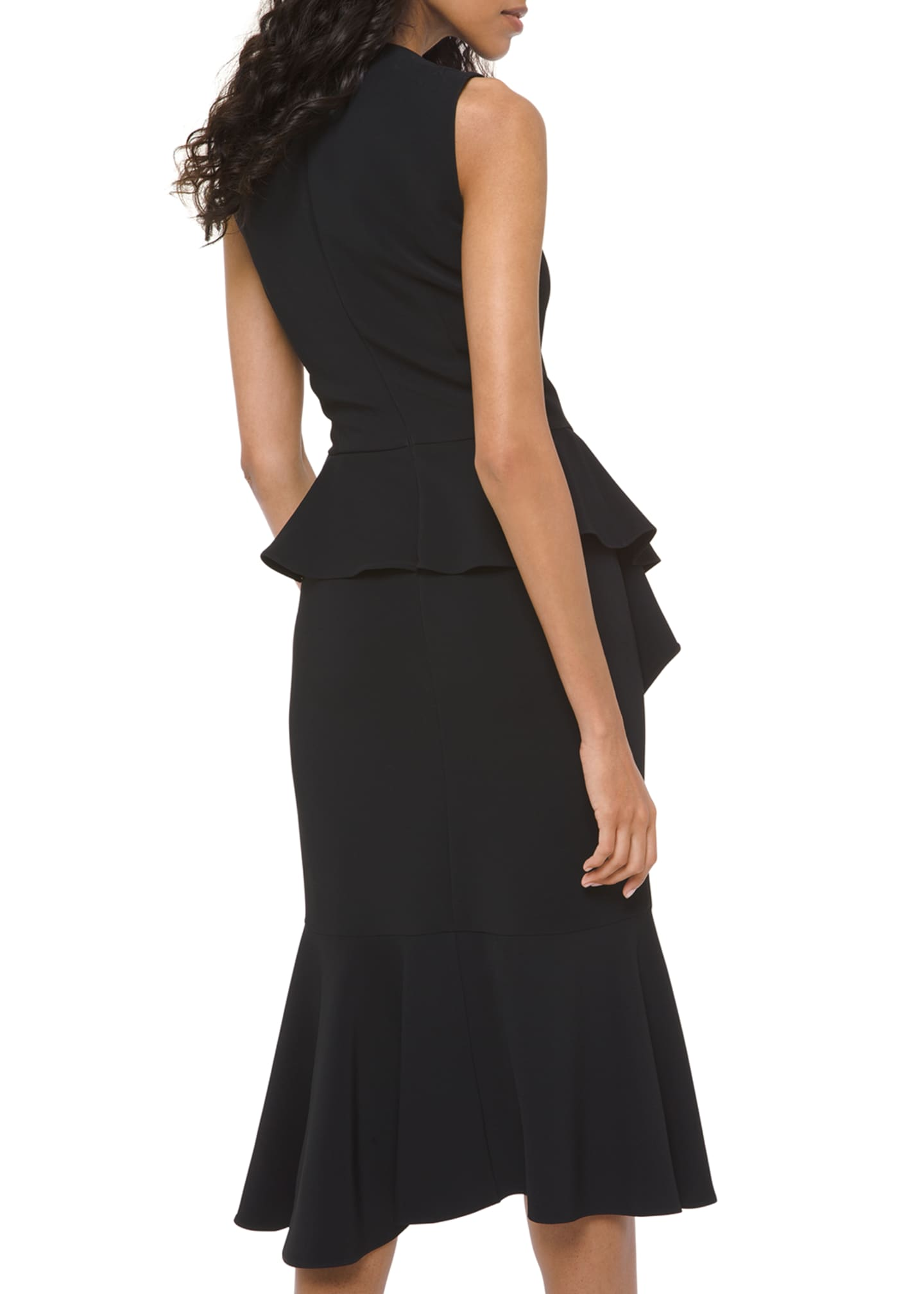 Image 2 of 2: Asymmetric Cascading Sheath Dress