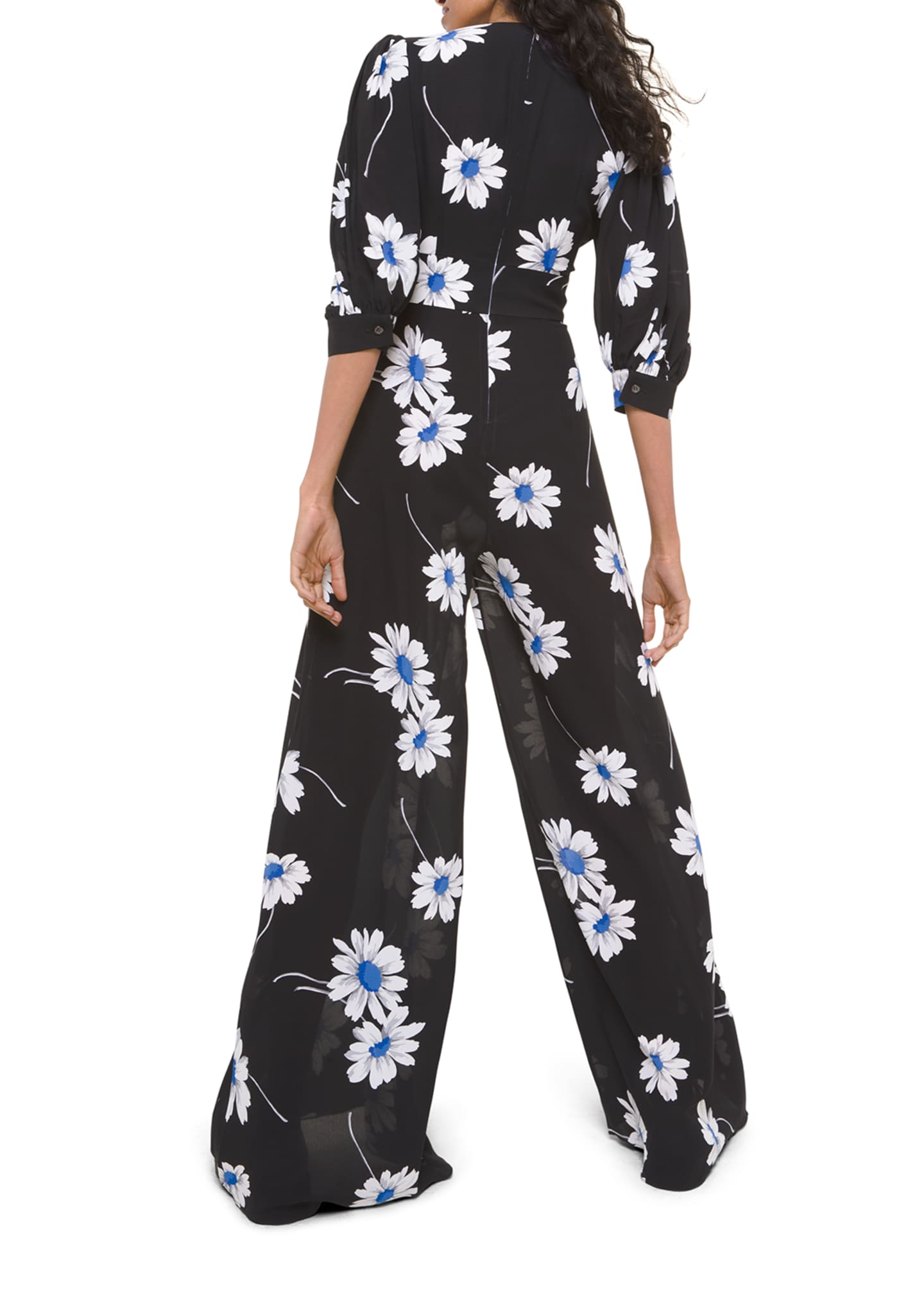 Image 2 of 2: Silk Tie-Front Palazzo Jumpsuit