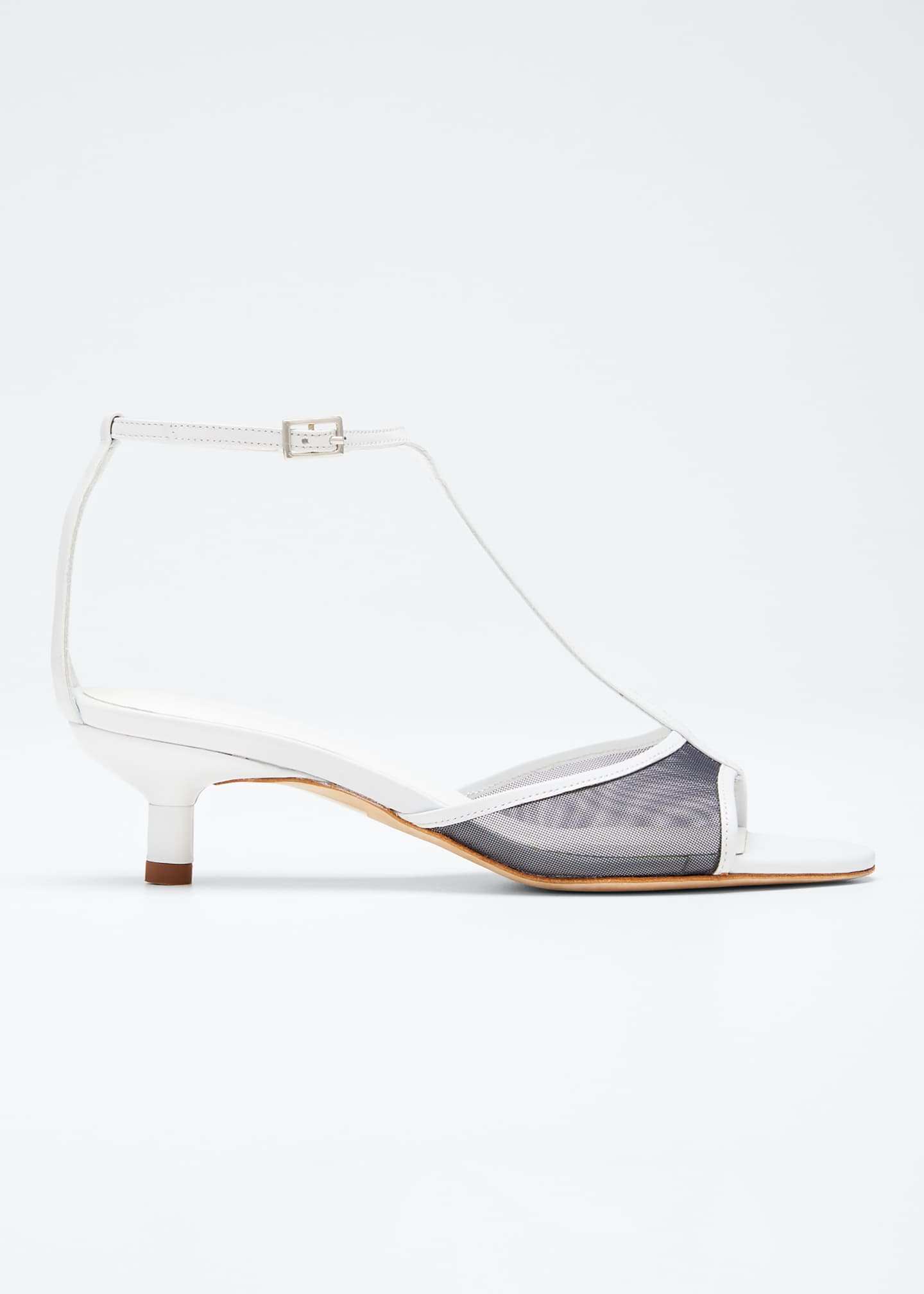 BY FAR Baby Mesh T-Strap Sandals