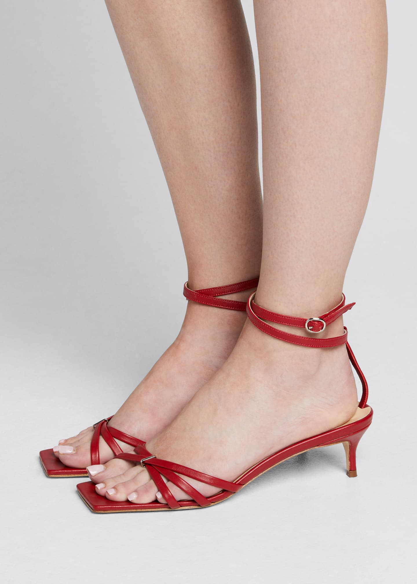 Image 2 of 5: Kaia Leather Ankle Sandals