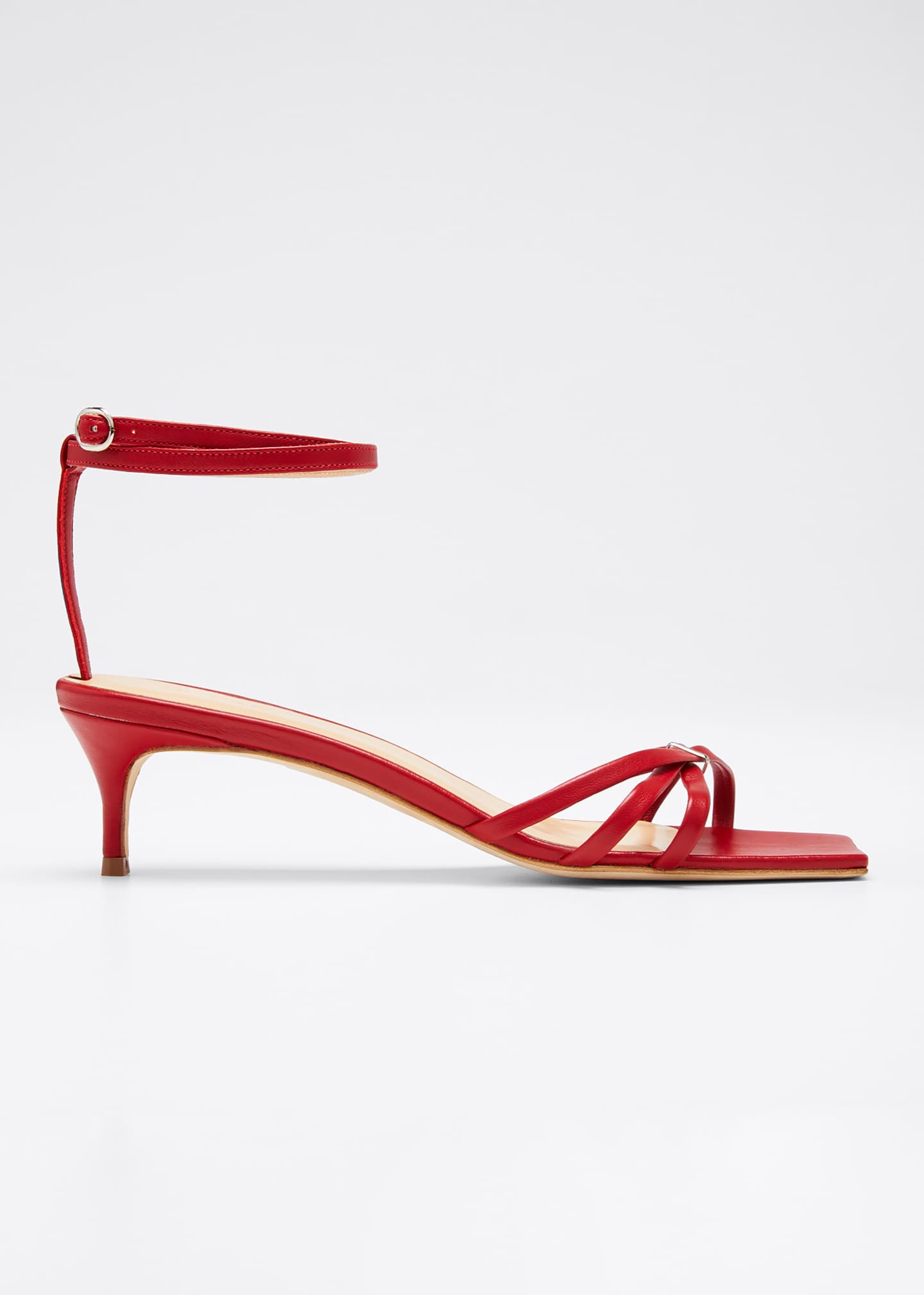 Image 1 of 5: Kaia Leather Ankle Sandals
