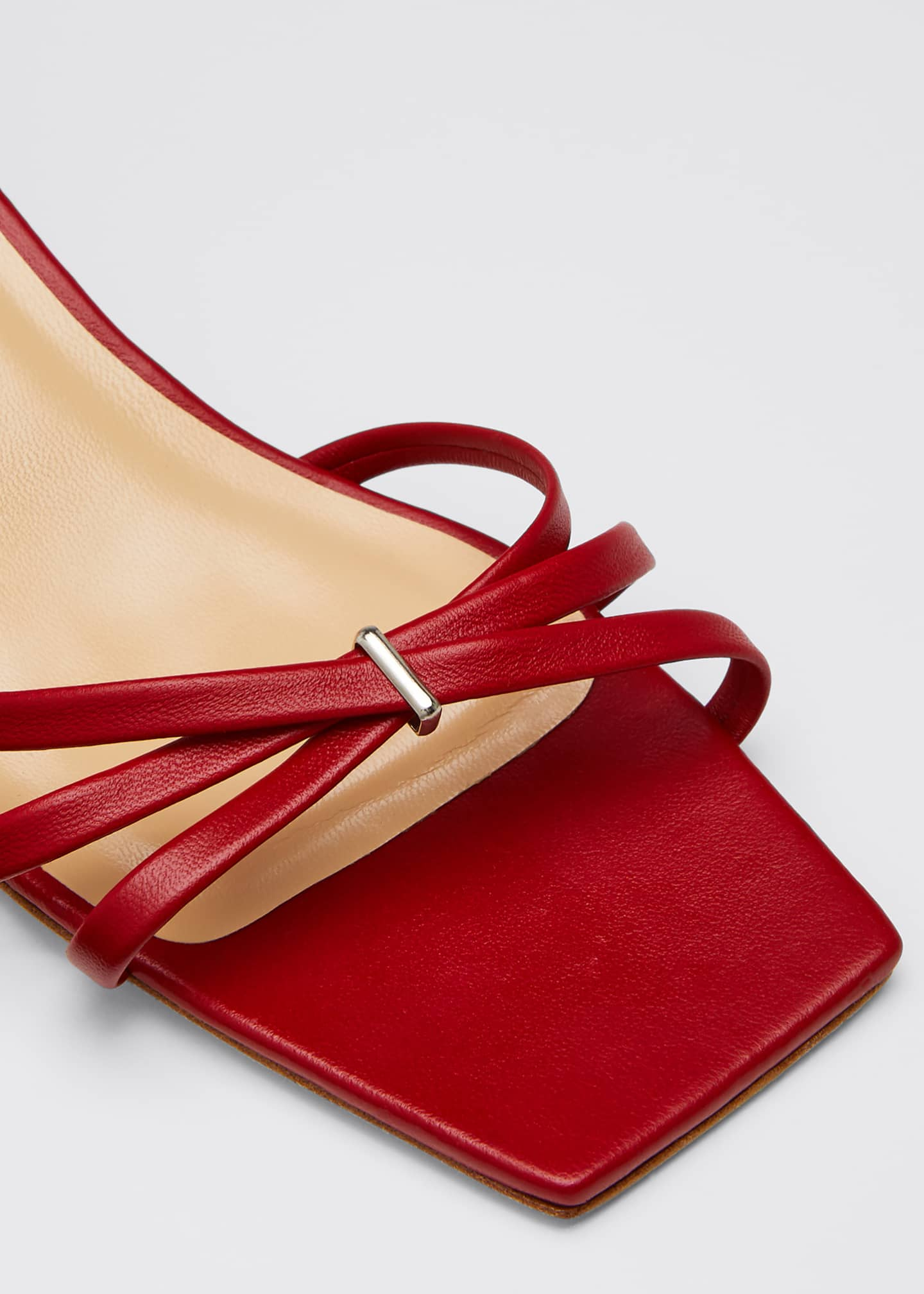 Image 5 of 5: Kaia Leather Ankle Sandals