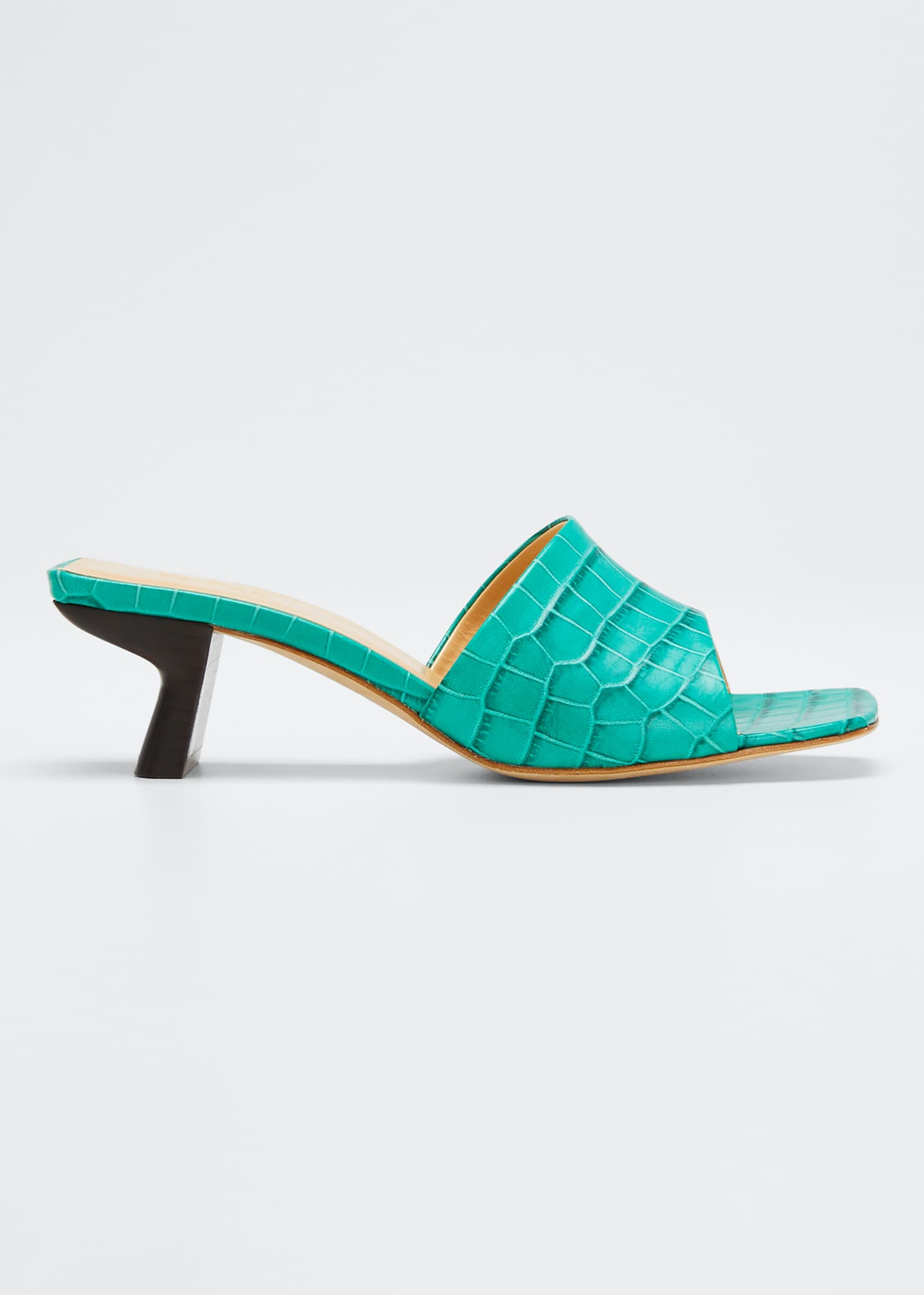BY FAR Lily Croco-Embossed Sandals