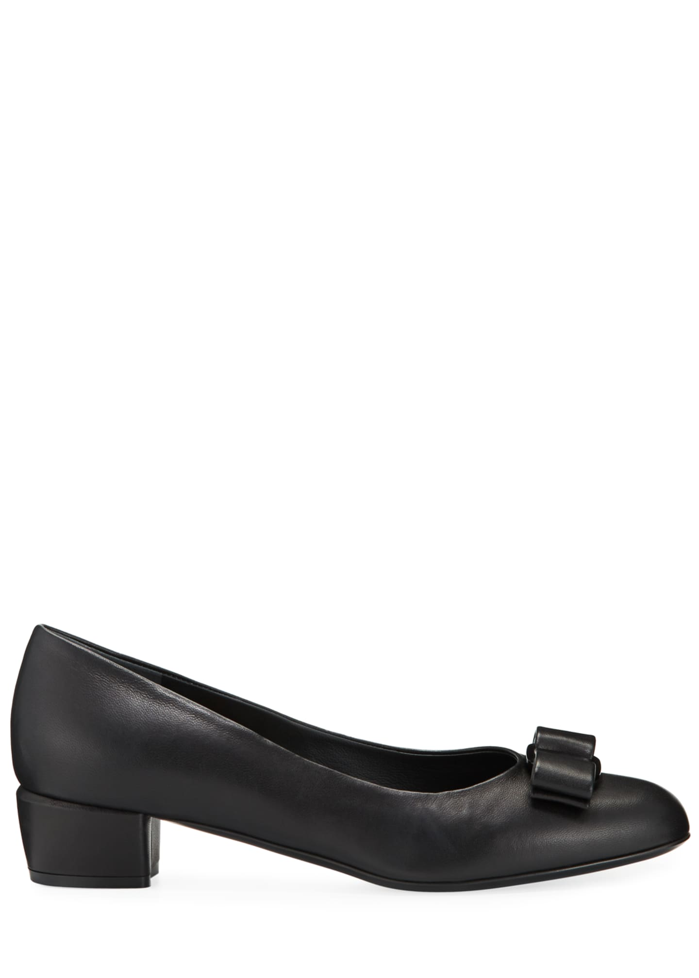 Image 2 of 3: Vara Bow Leather Ballerina Flats