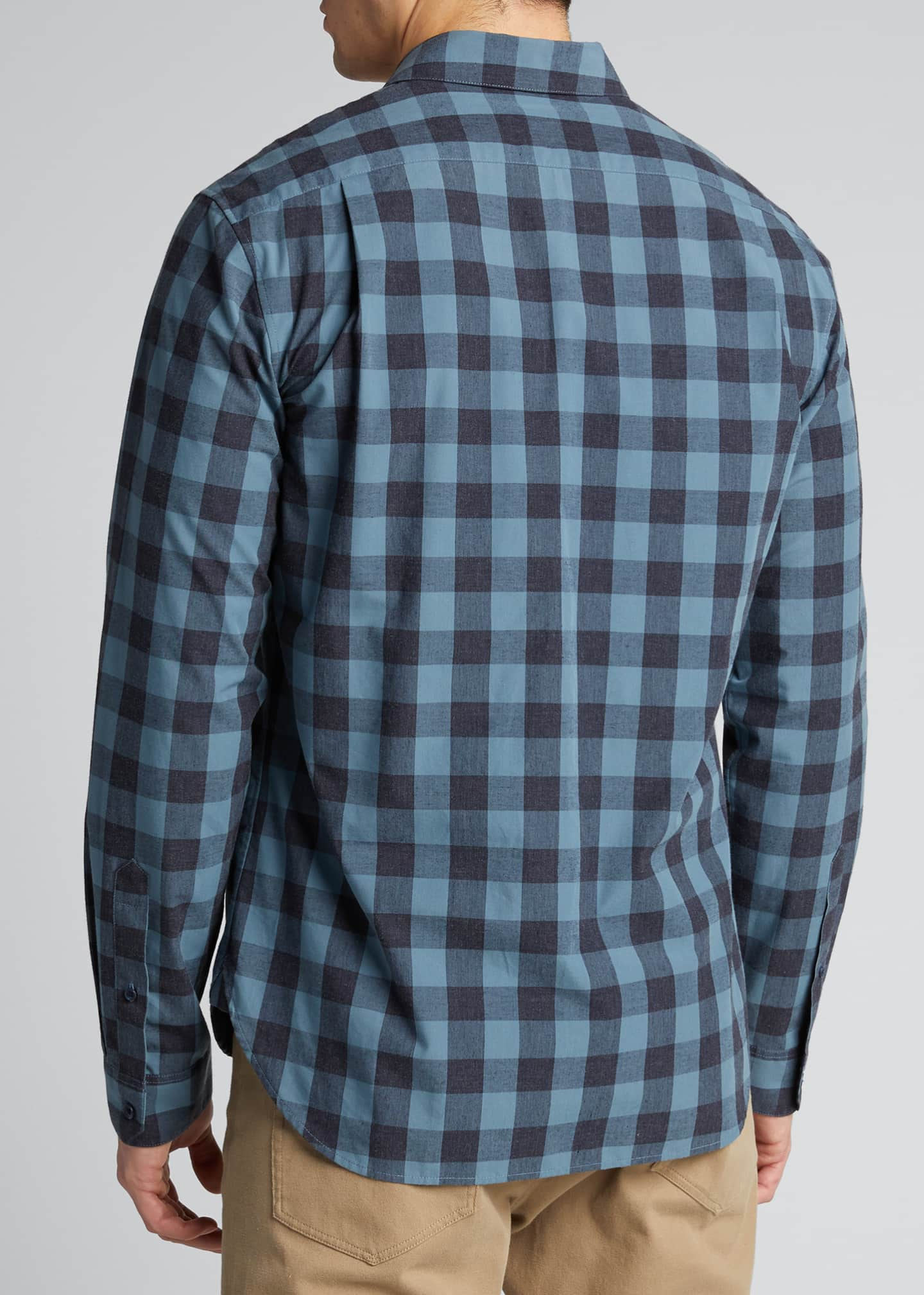 Image 2 of 5: Men's Buffalo Check Sport Shirt