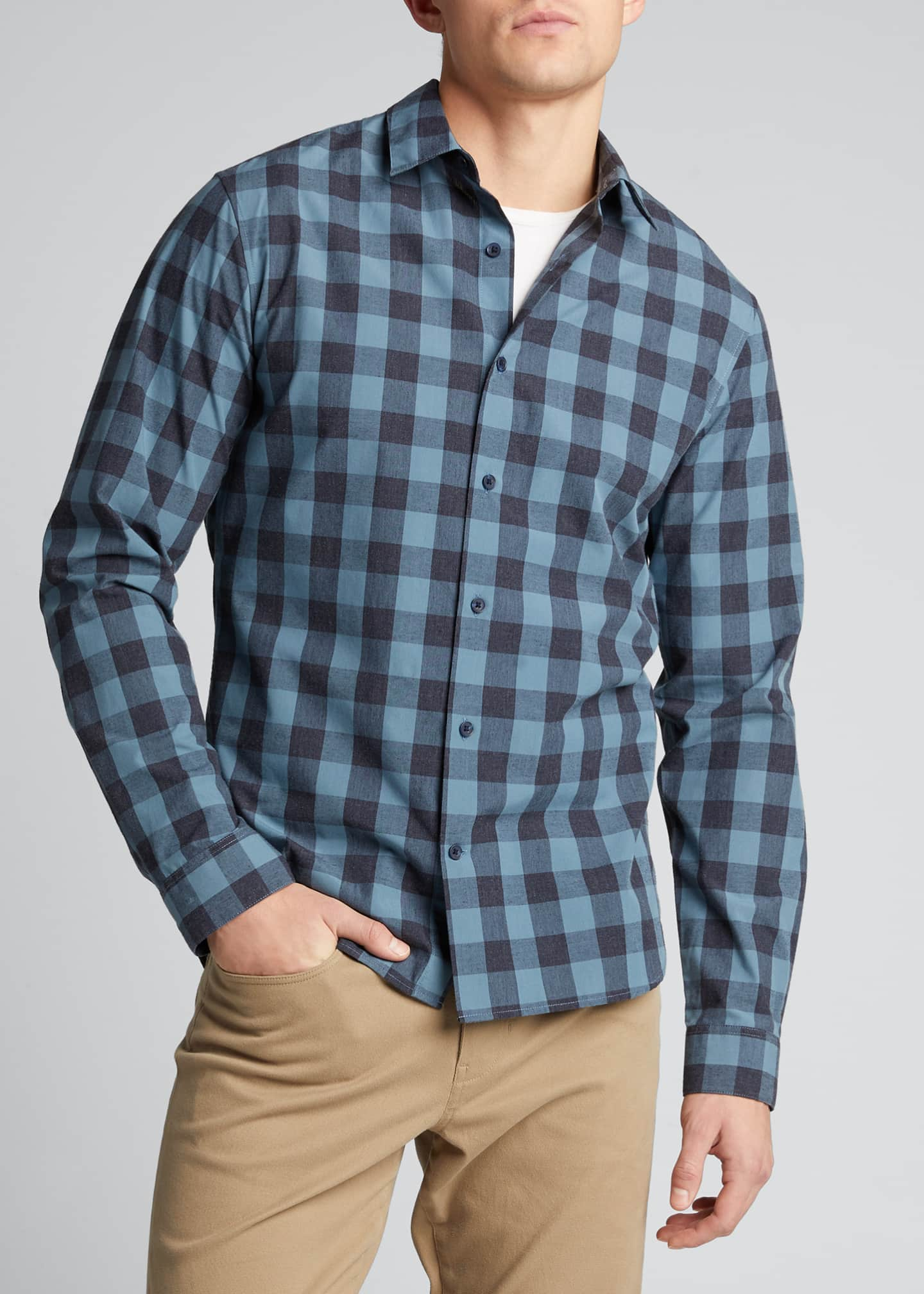 Image 3 of 5: Men's Buffalo Check Sport Shirt