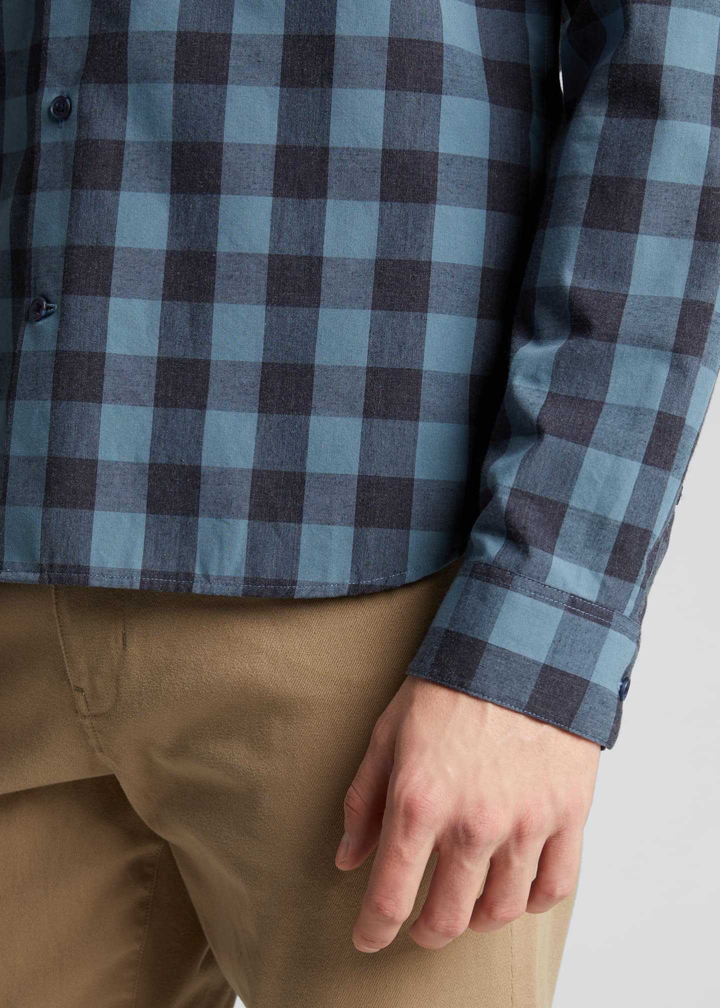 Image 4 of 5: Men's Buffalo Check Sport Shirt