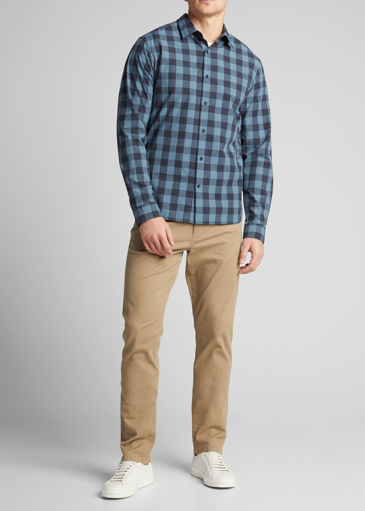Image 1 of 5: Men's Buffalo Check Sport Shirt