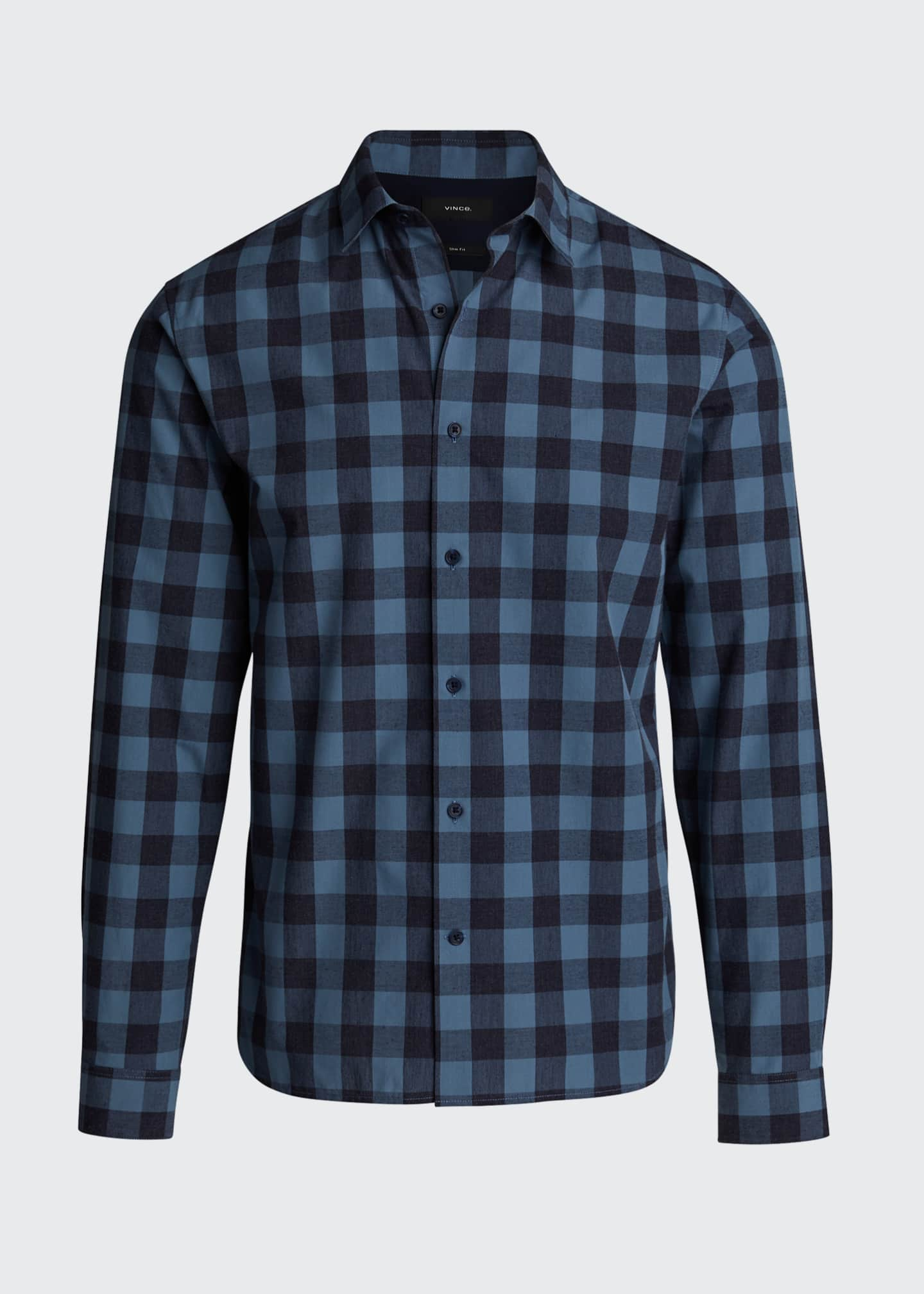Image 5 of 5: Men's Buffalo Check Sport Shirt