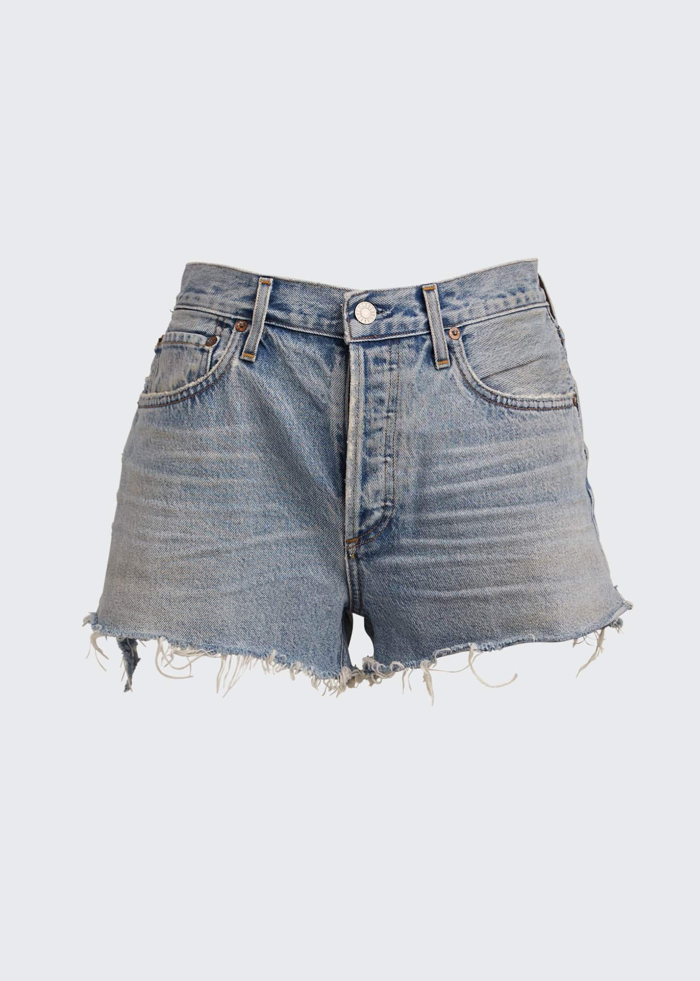 Image 5 of 5: Parker Cutoff Denim Shorts