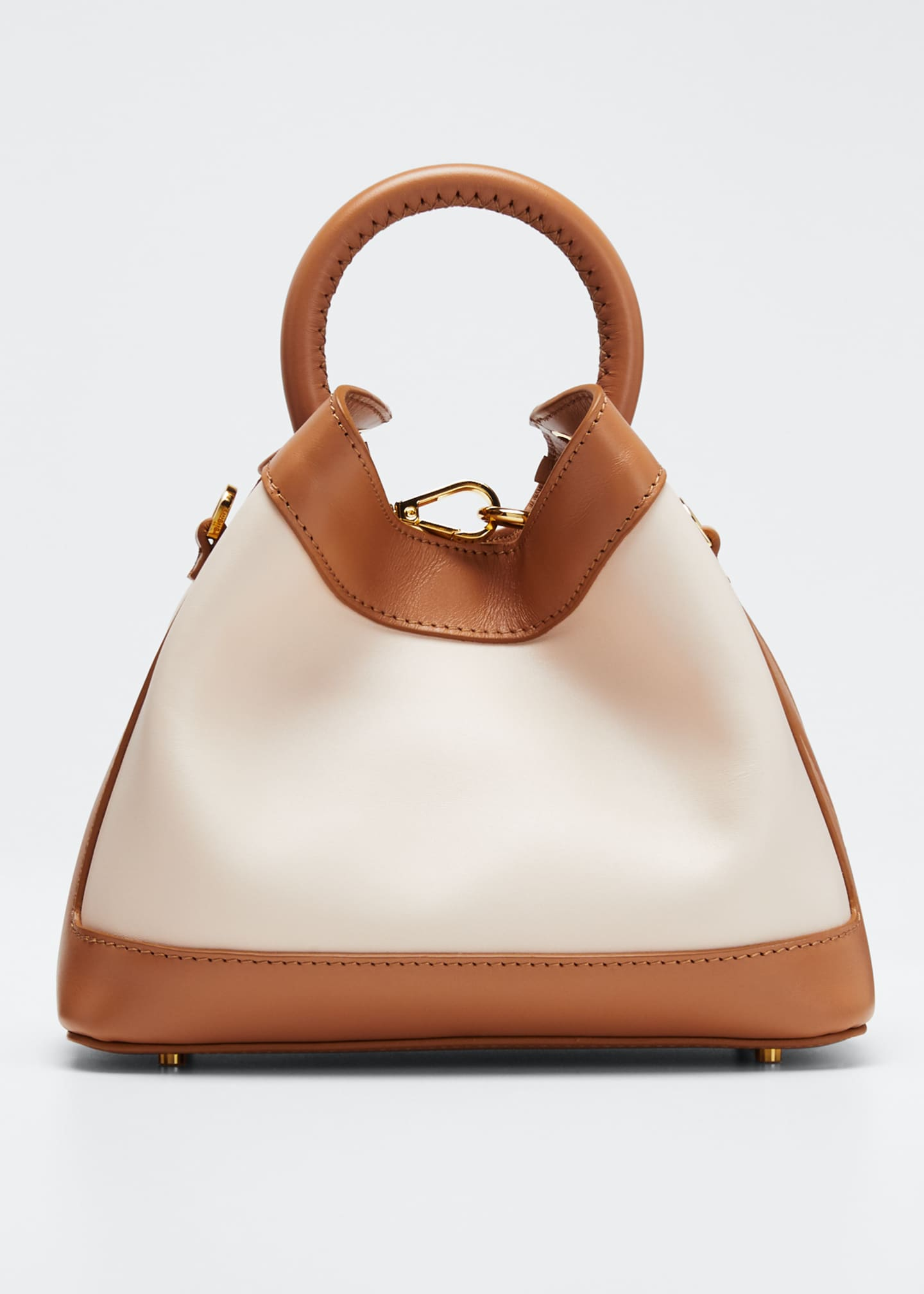 Image 1 of 5: Baozi Medium Colorblock Leather Tote Bag