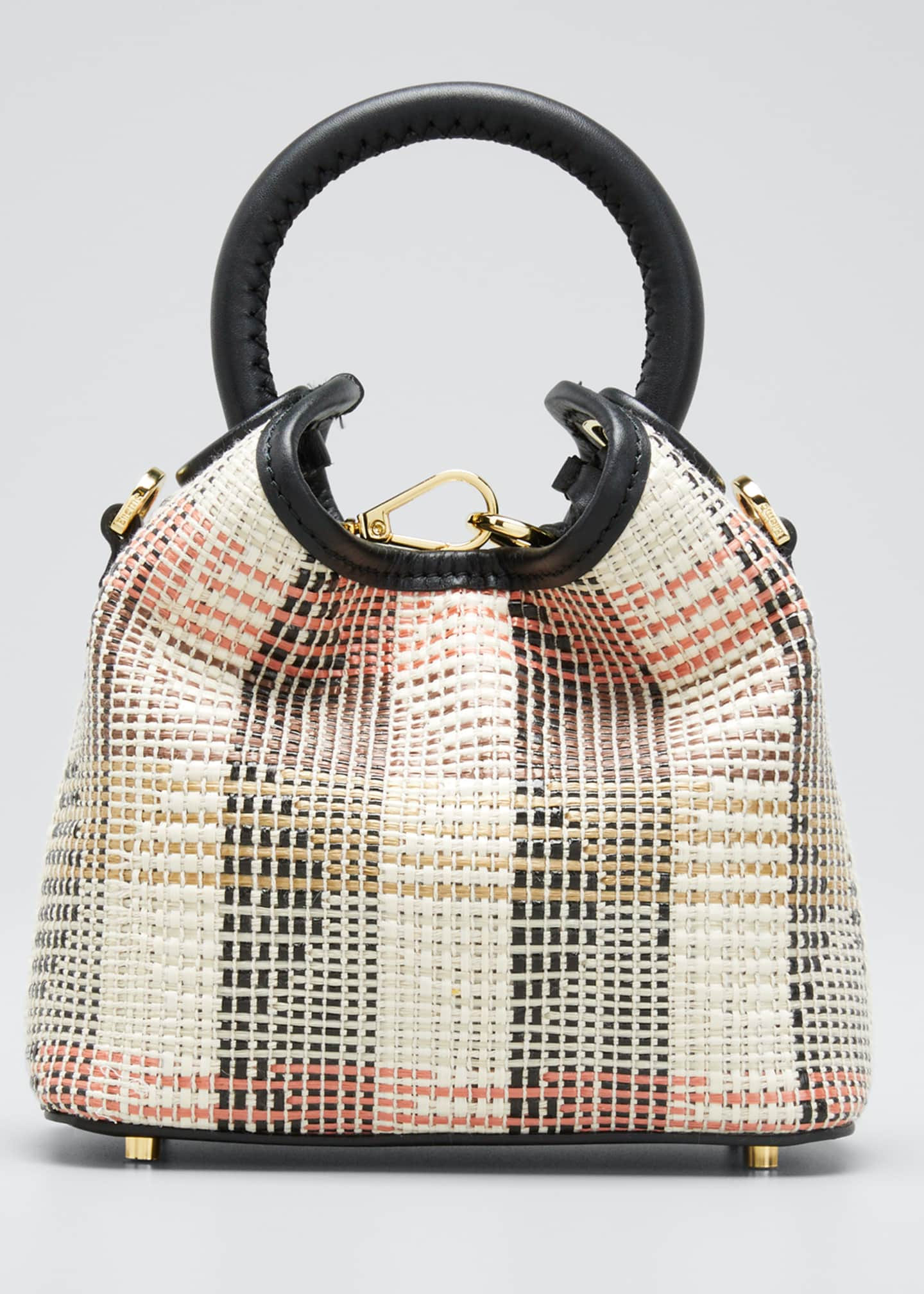 Image 1 of 5: Marchita Raffia Madeleine Mini Tote Bag