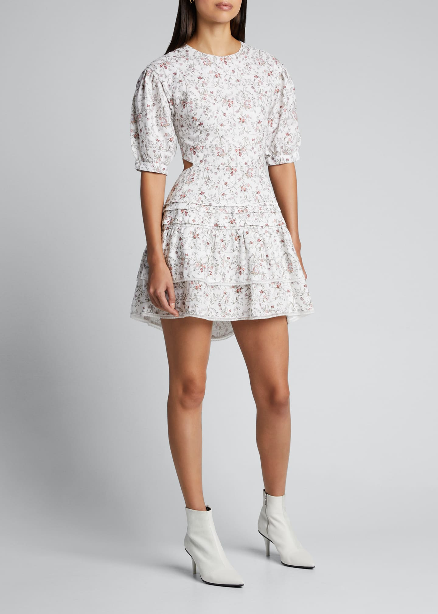 Image 3 of 5: Haisly Floral-Print Mini Dress