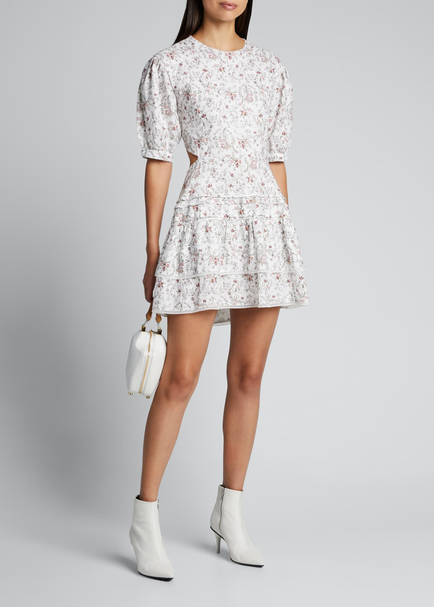 Image 1 of 5: Haisly Floral-Print Mini Dress