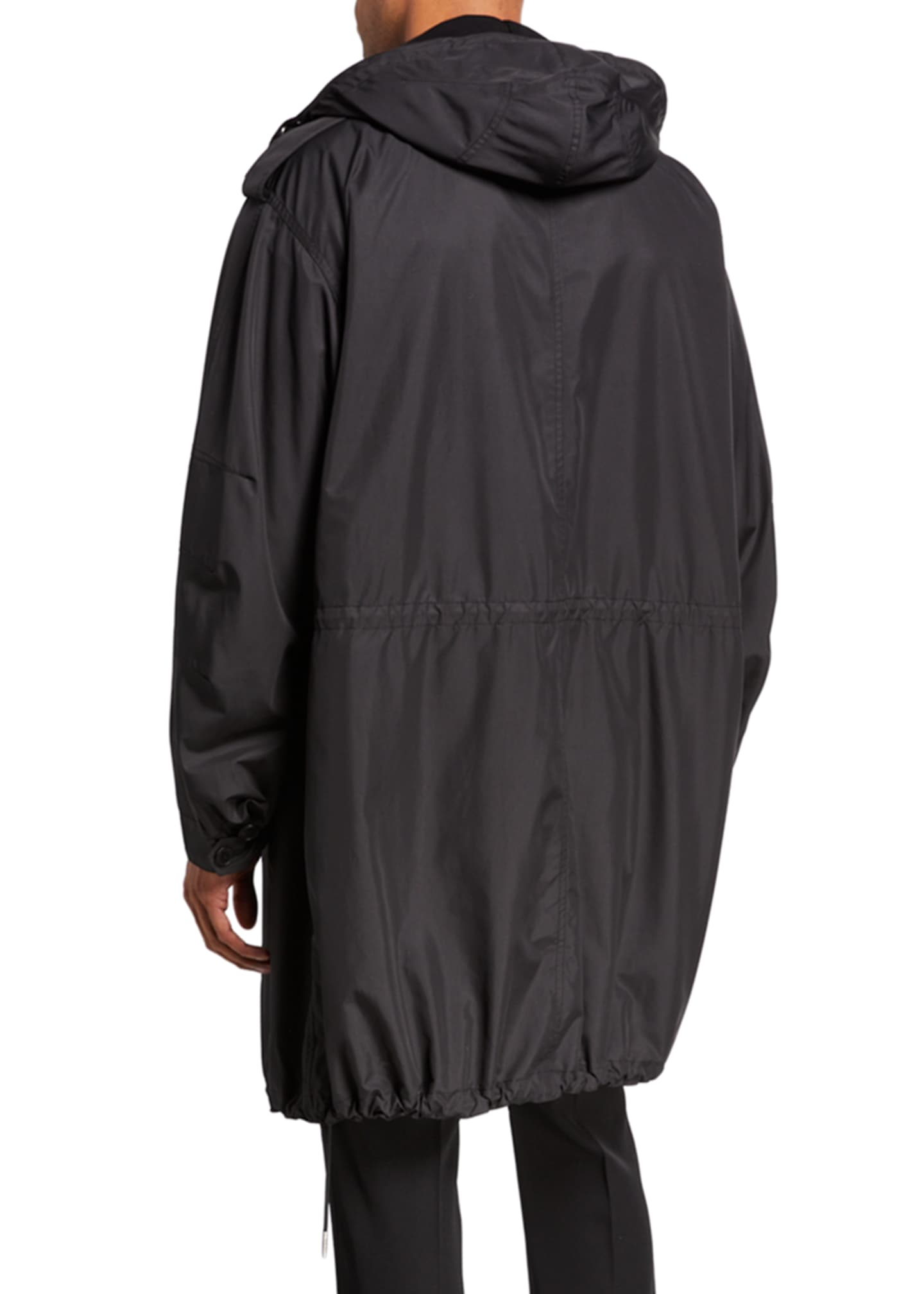 Image 2 of 2: Men's Taffeta Hooded Parka with Chest Label