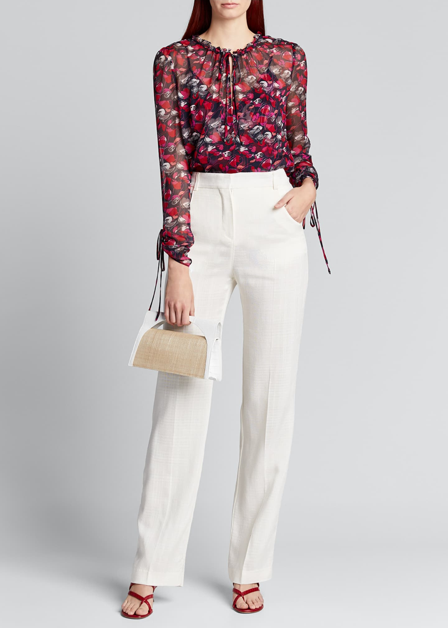 Diane von Furstenberg Lilian Floral Long-Sleeve Blouse