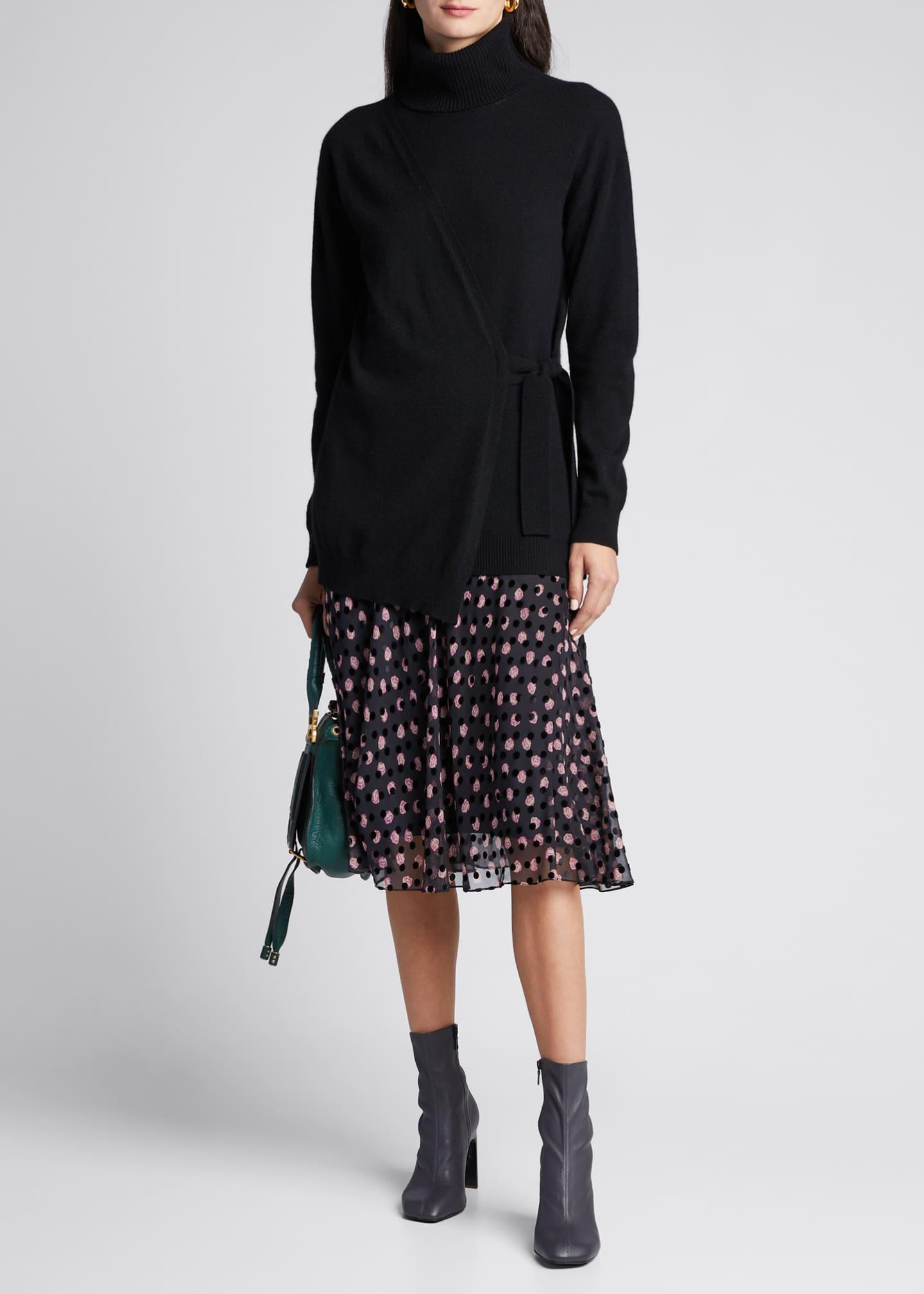 Diane von Furstenberg Pomona Faux-Wrap Turtleneck Sweater