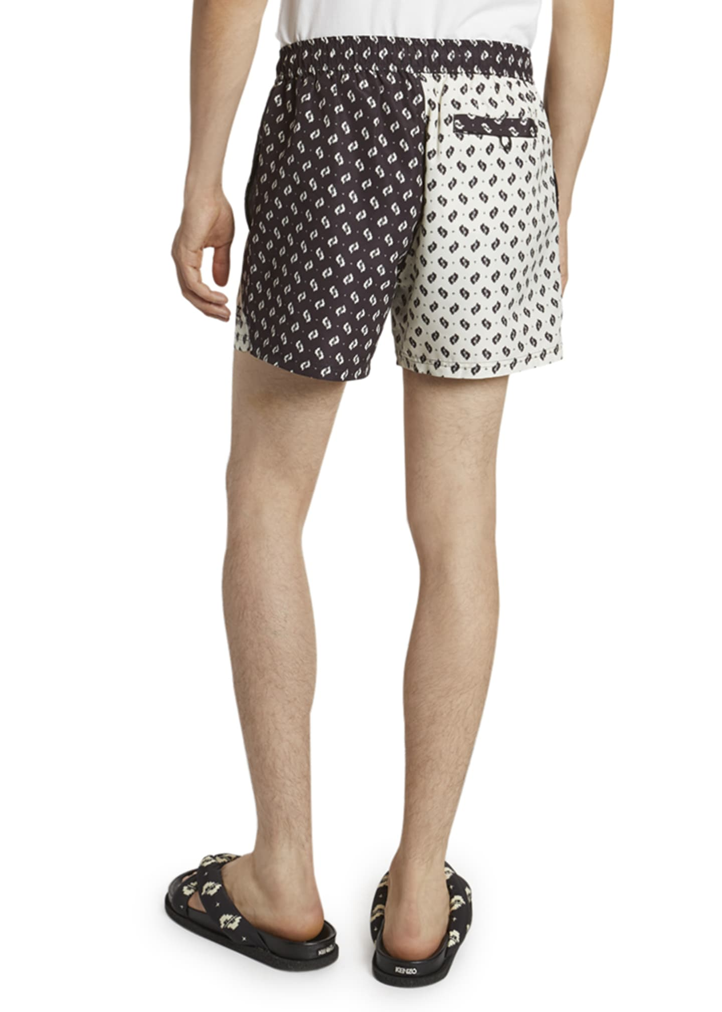 Image 2 of 3: Men's Ikat Patched Swim Shorts