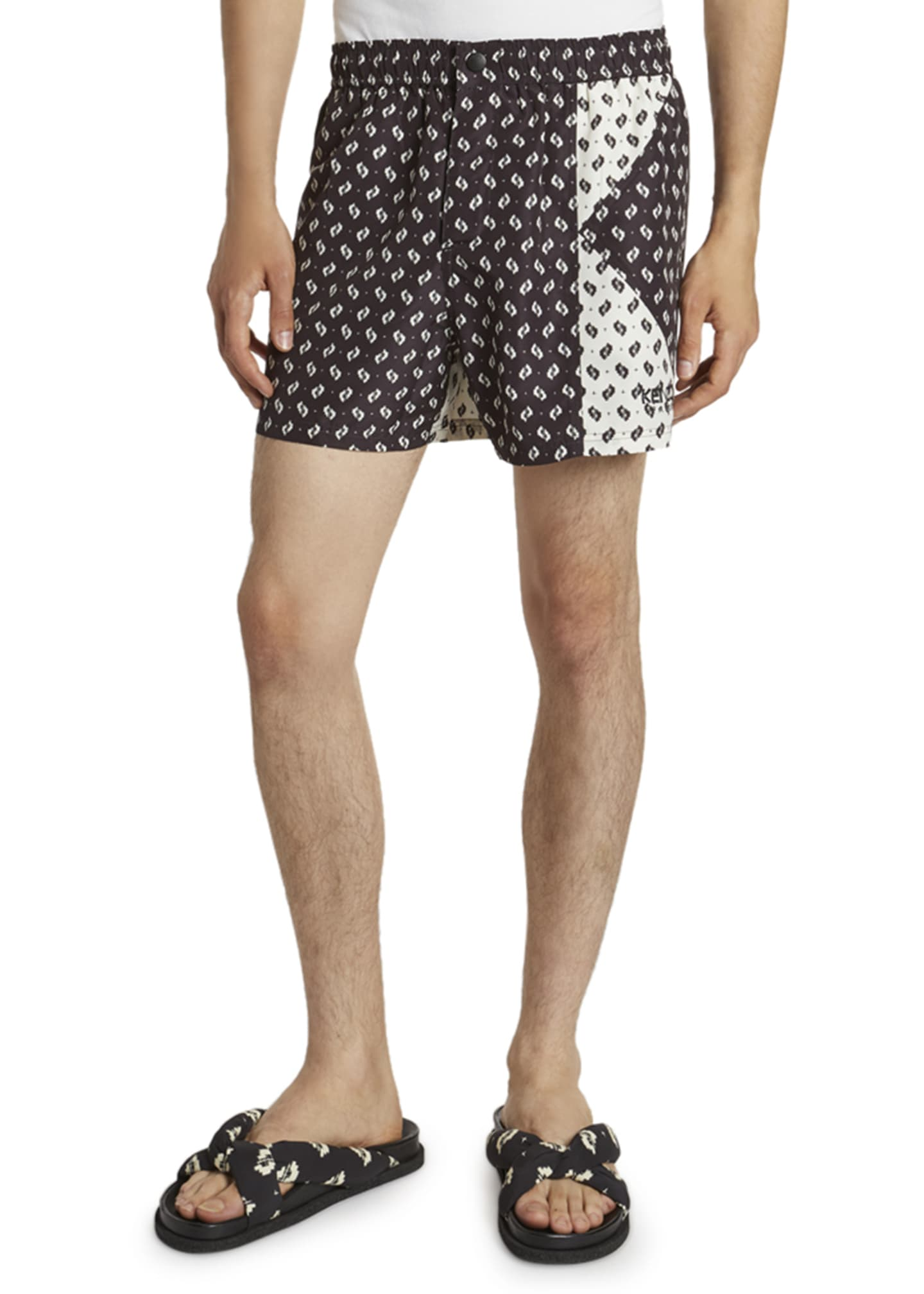 Image 1 of 3: Men's Ikat Patched Swim Shorts
