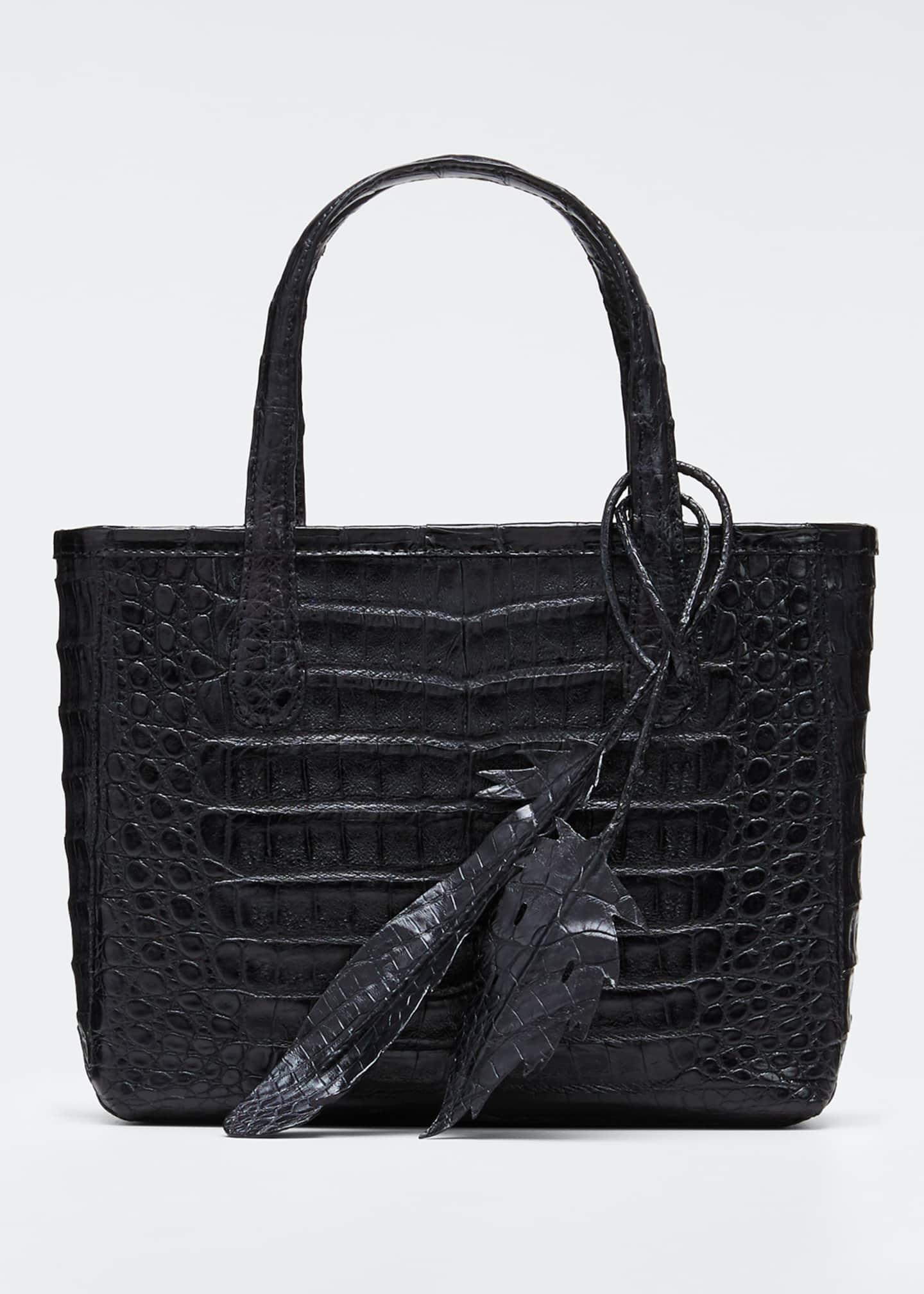 Nancy Gonzalez Erica Mini Crocodile Leaf Tote Bag