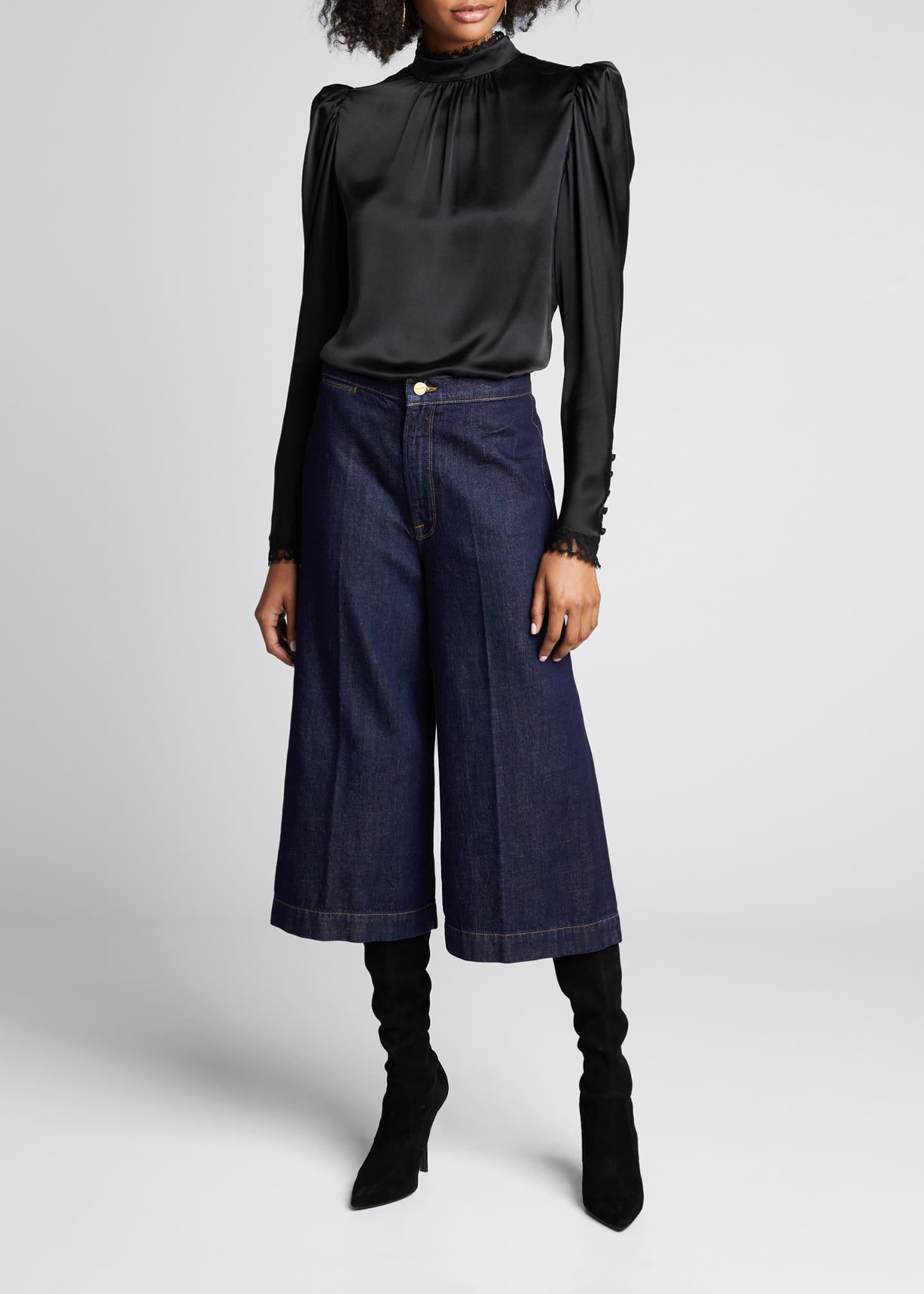 FRAME Le Culotte Denim Trousers